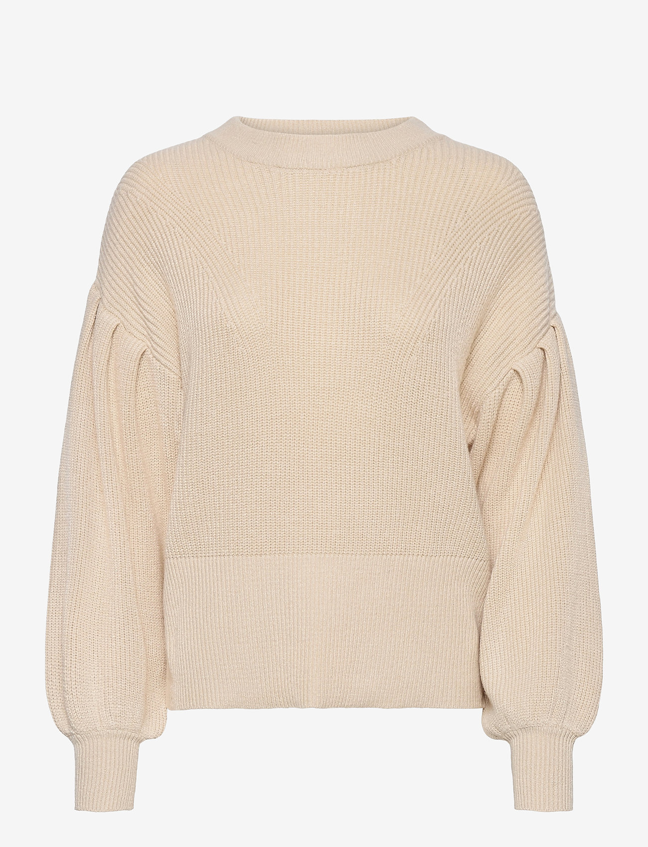 Object - OBJVIOLETTE L/S KNIT PULLOVER - sweaters - sandshell - 0