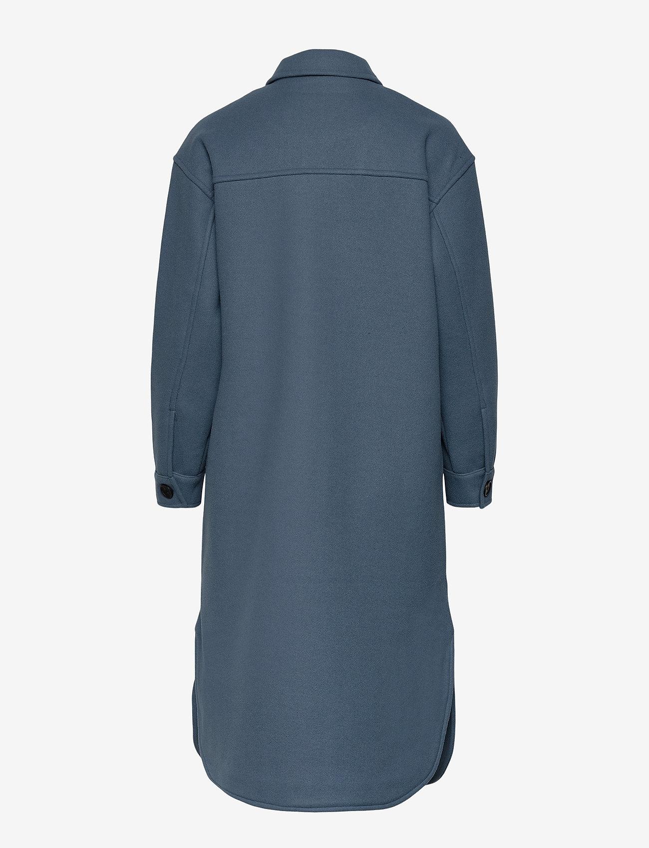 Object - OBJCHILE JACKET - wool coats - blue mirage - 1