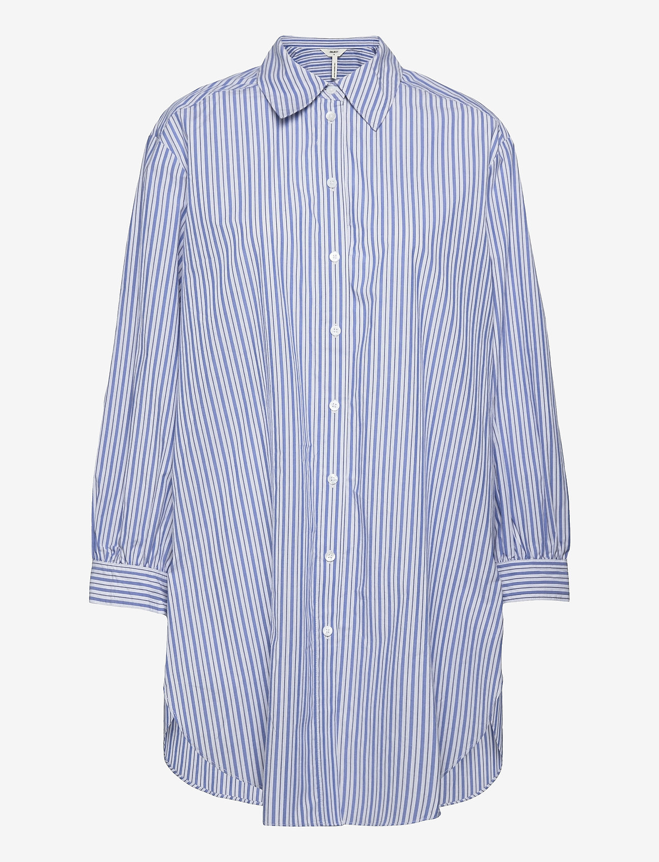 Object - OBJALMAS L/S LONG SHIRT - long-sleeved shirts - sky captain - 0