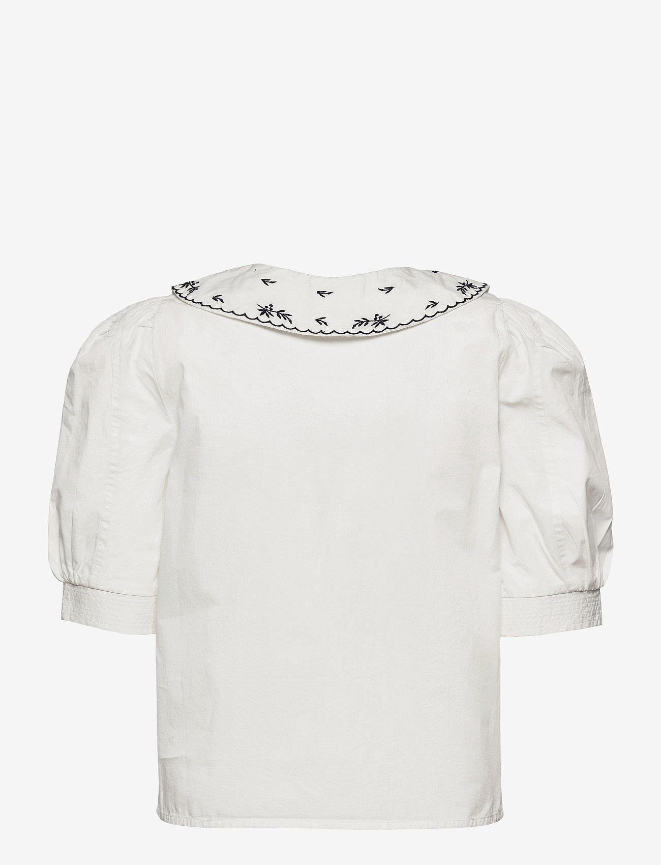 Object - OBJNIDA S/S SHIRT - short-sleeved shirts - cloud dancer - 1