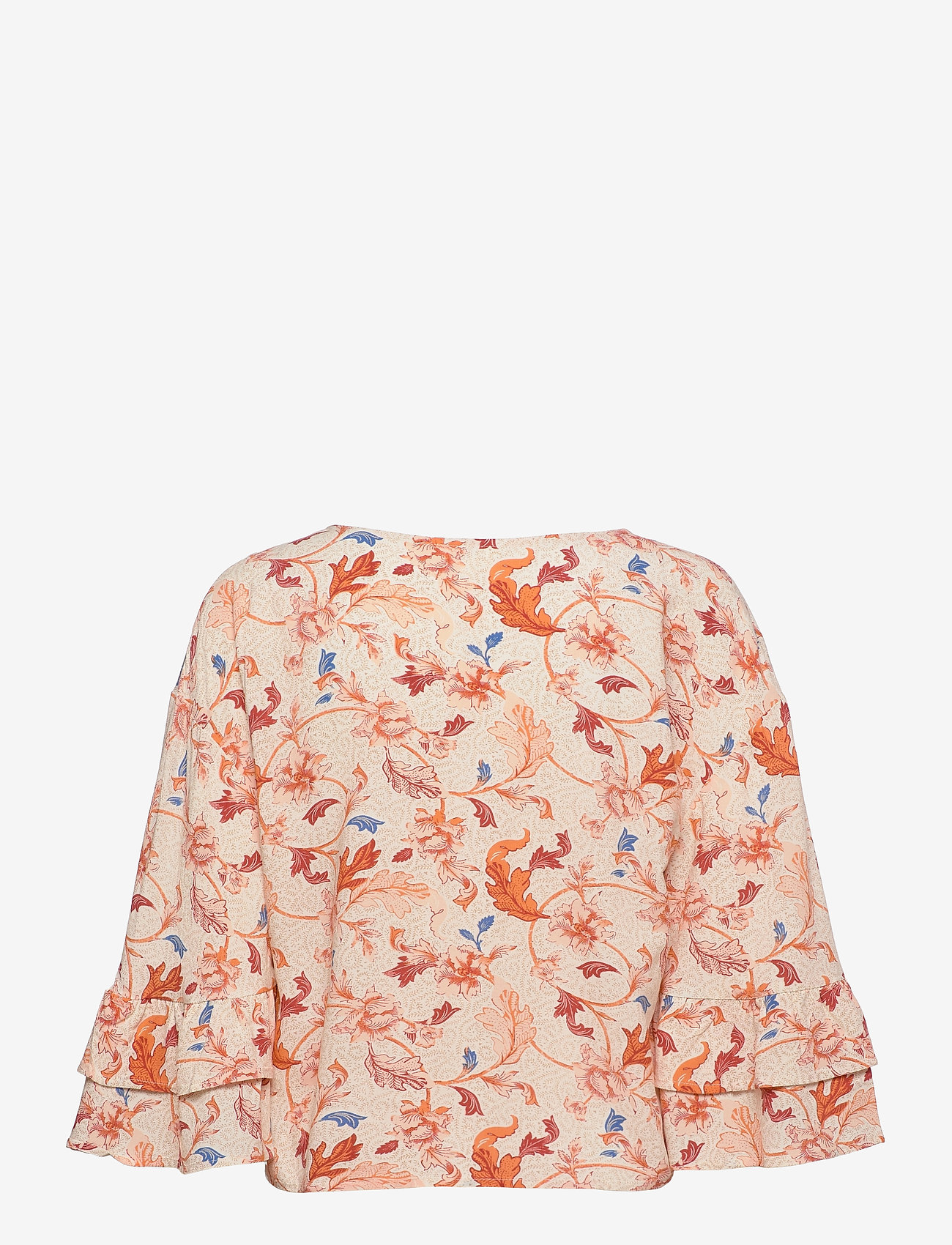 Object - OBJOBDULIA 3/4 TOP - long sleeved blouses - sandshell - 1