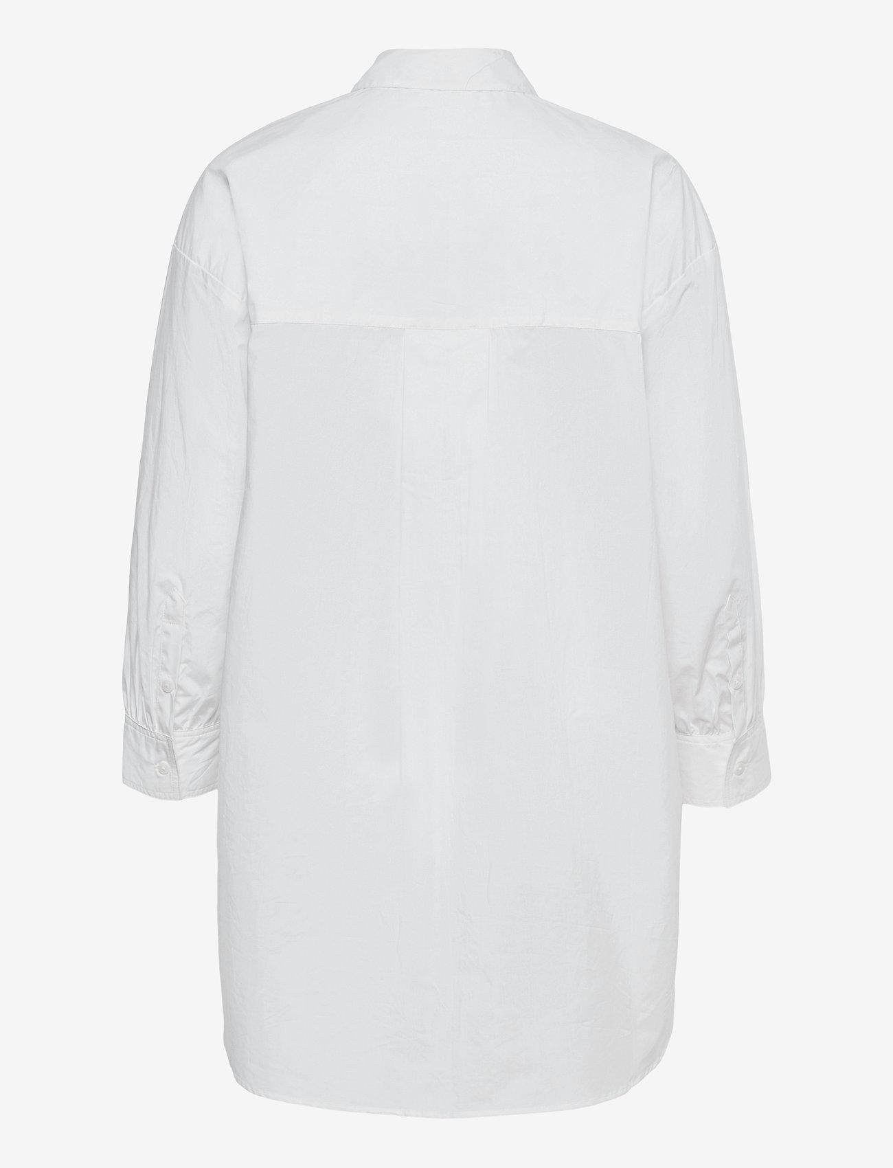 Object - OBJMAHIN 7/8 SHIRT - pitkähihaiset paidat - bright white - 1