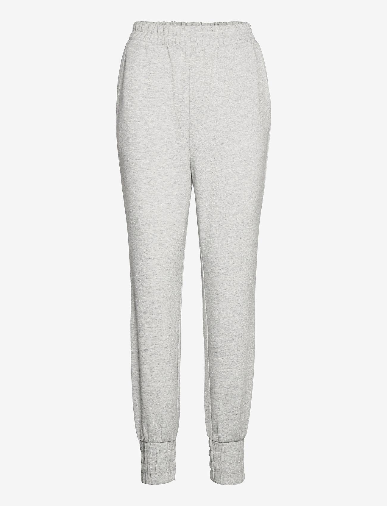 Object - OBJMEZA HW SWEAT  PANTS - clothing - light grey melange - 0