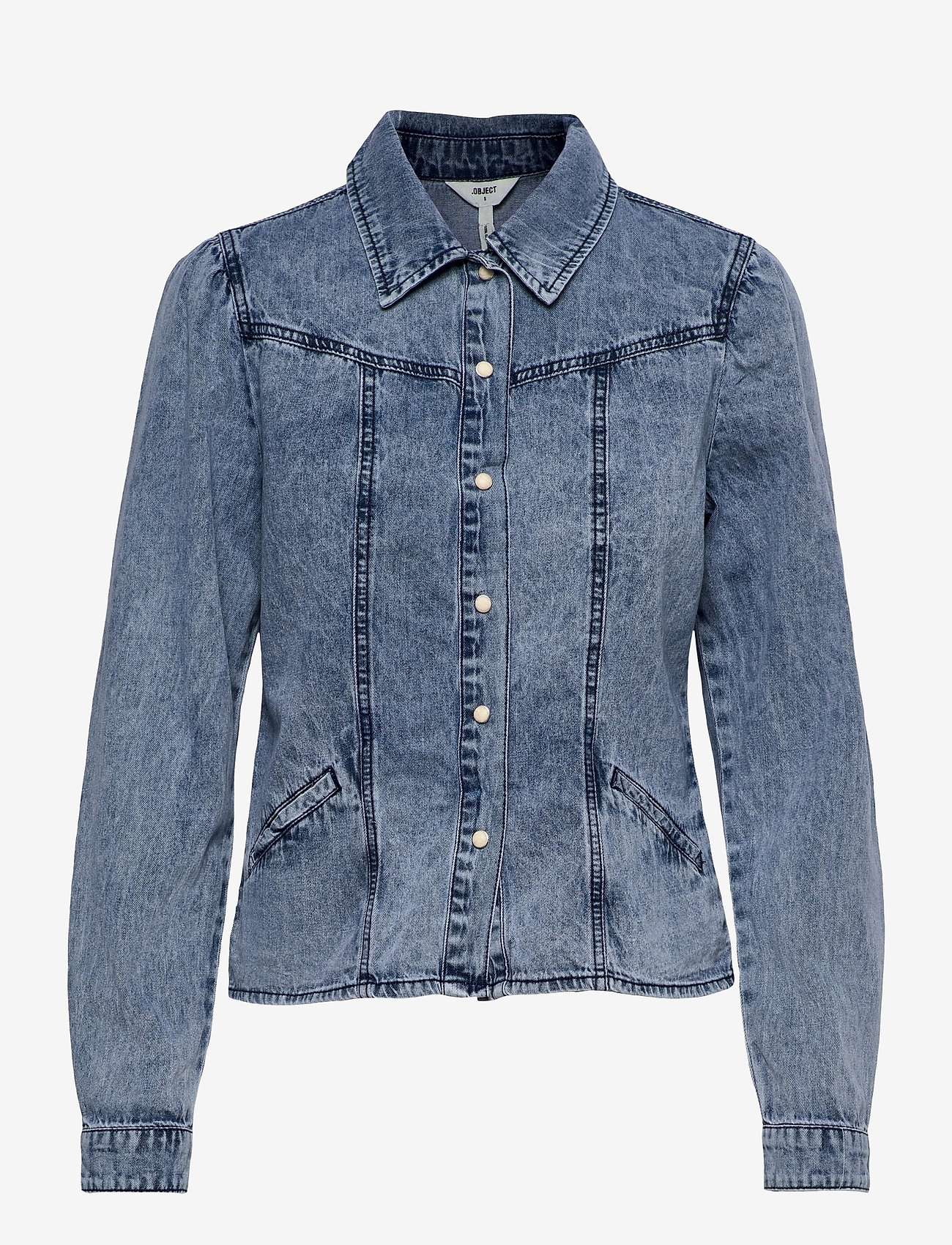 Object - OBJAYA DENIM SHIRT 114 - denim jackets - light blue denim - 0