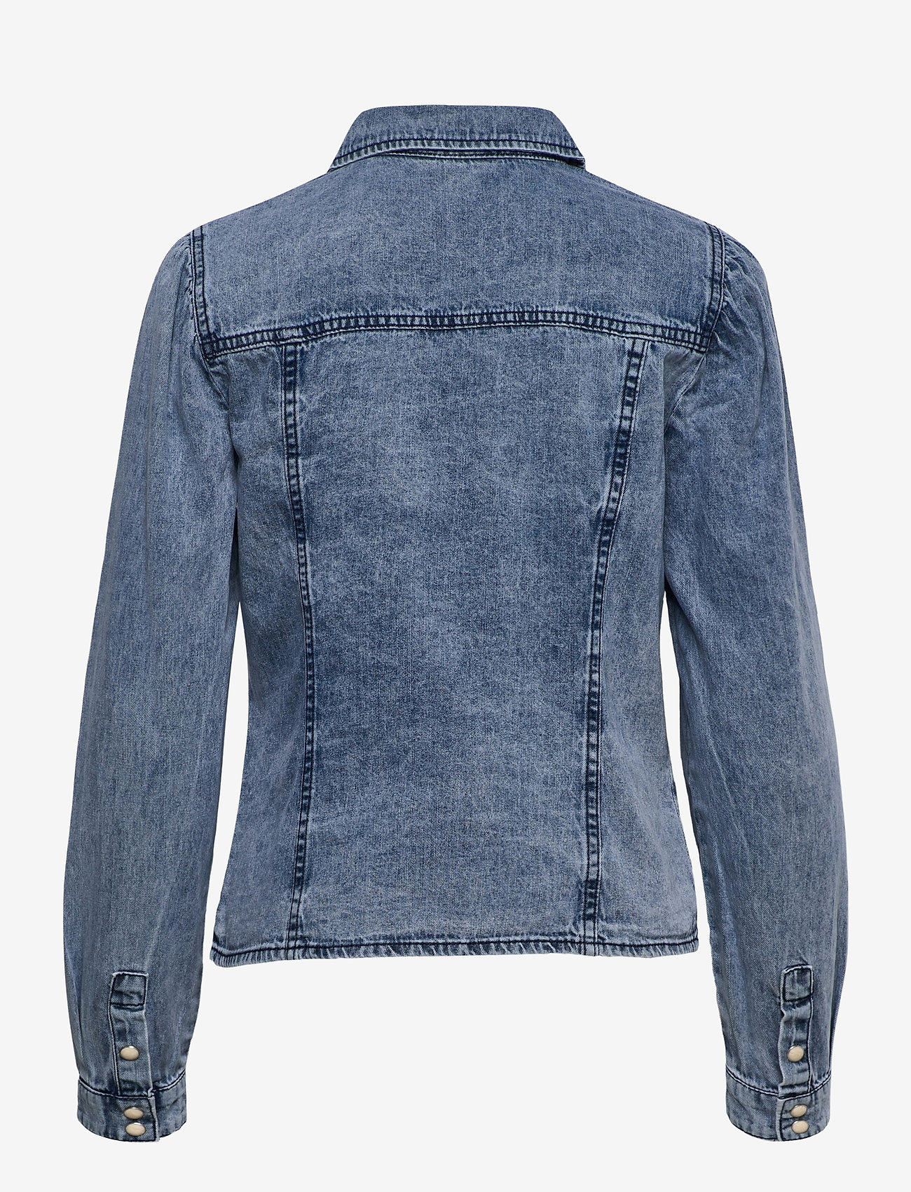 Object - OBJAYA DENIM SHIRT 114 - denim jackets - light blue denim - 1