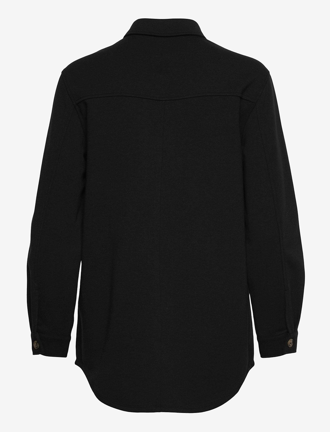 Object - OBJMEZA L/S SHIRT - clothing - black - 1