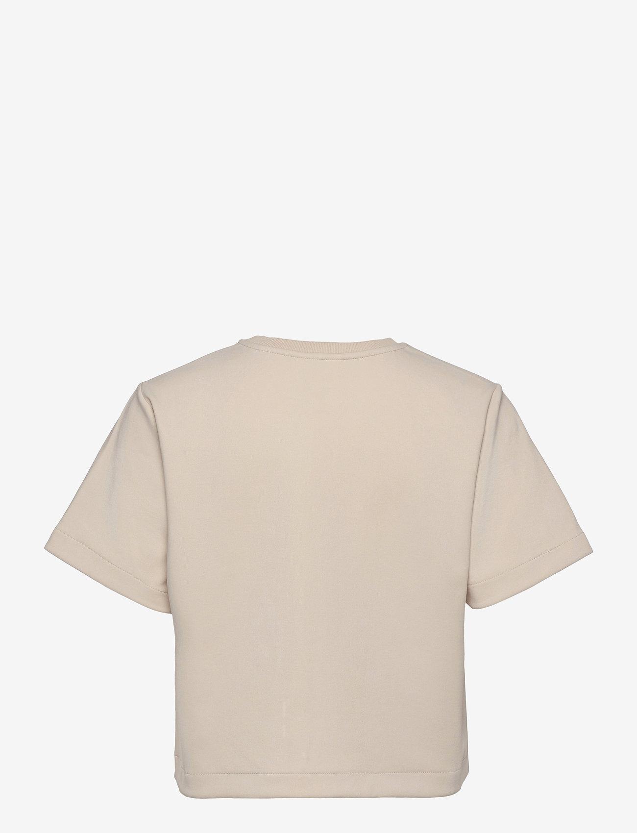 Object - OBJMIKALA S/S TOP - t-shirts - sandshell - 1