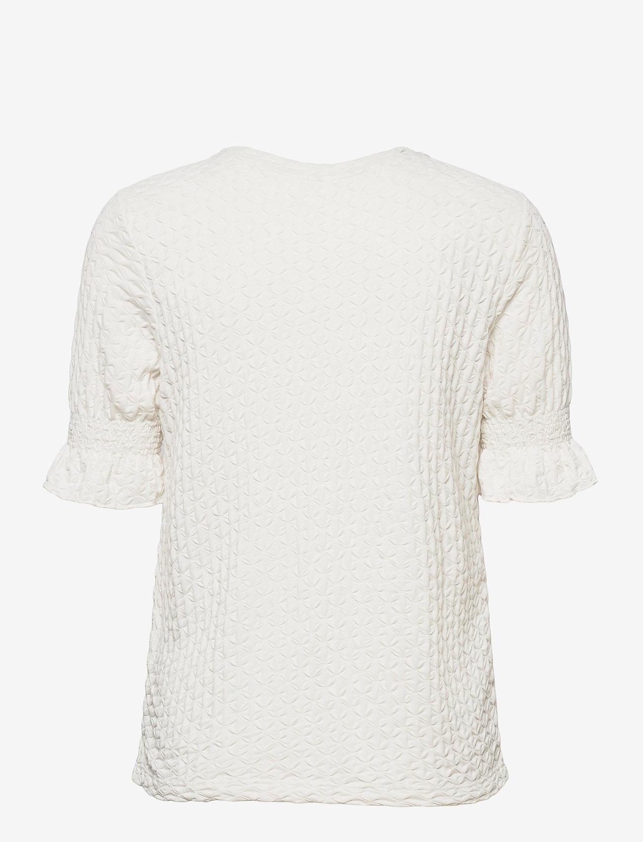 Object - OBJWARINA S/S TOP - t-shirts - cloud dancer - 1