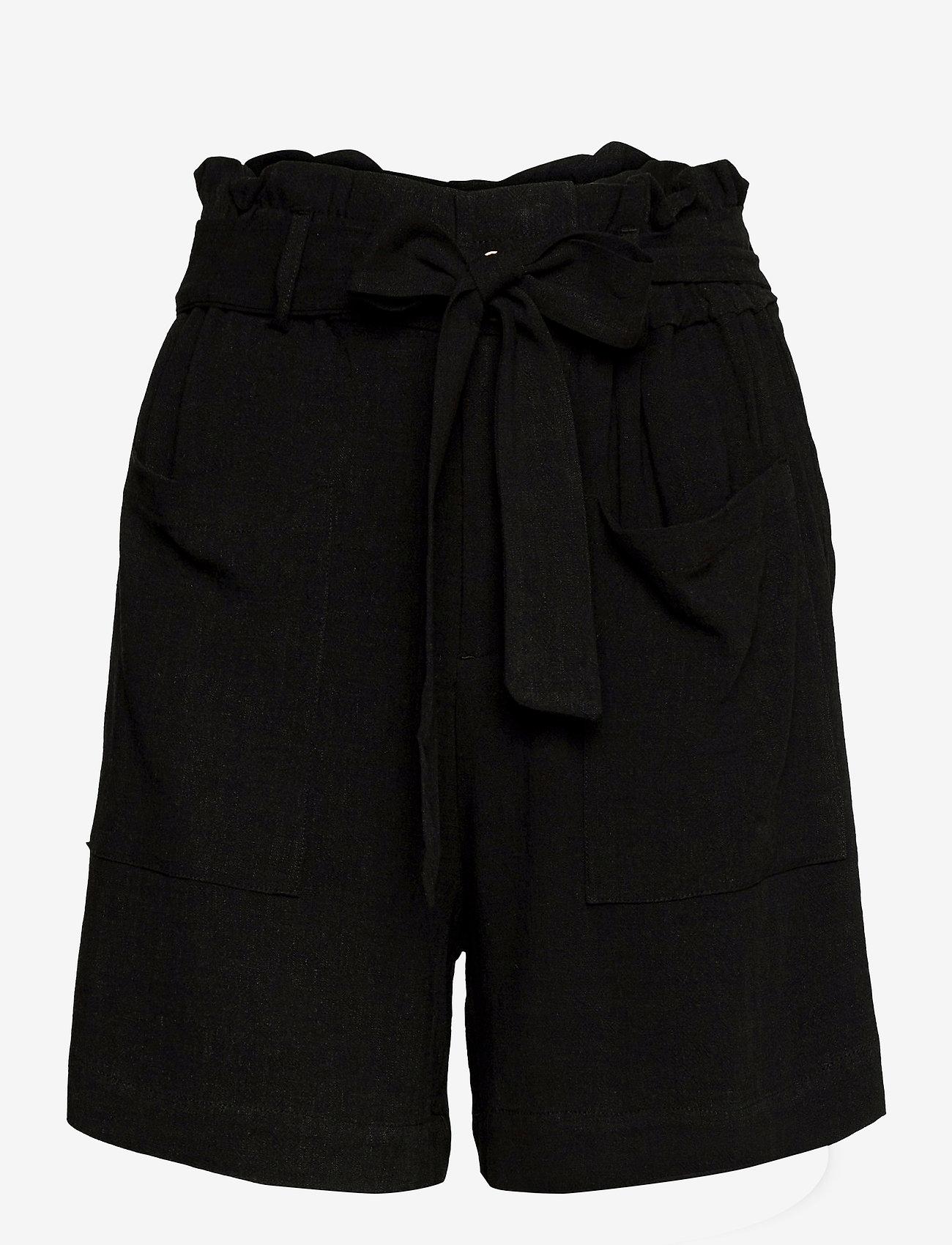 Object - OBJHADY SHORTS - paper bag shorts - black - 0