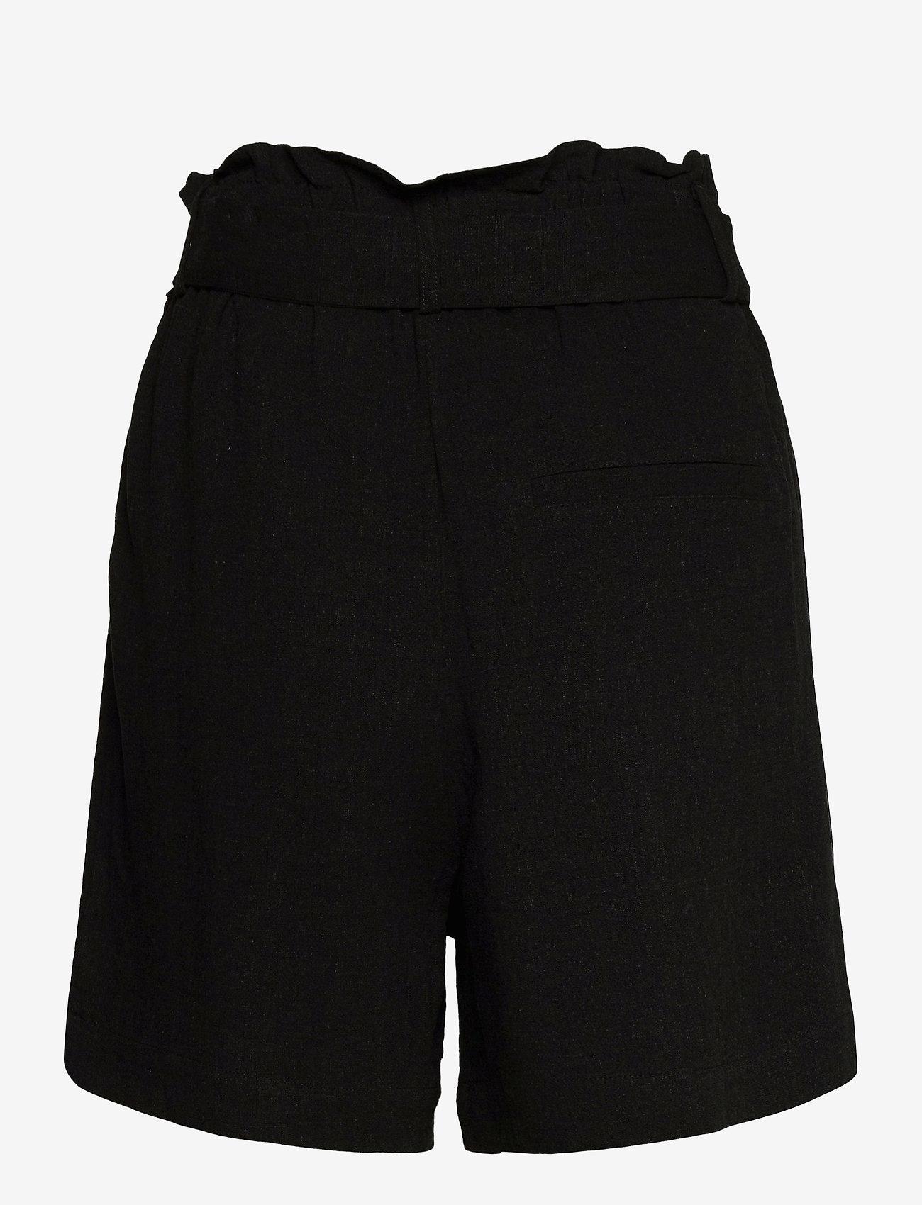 Object - OBJHADY SHORTS - paper bag shorts - black - 1