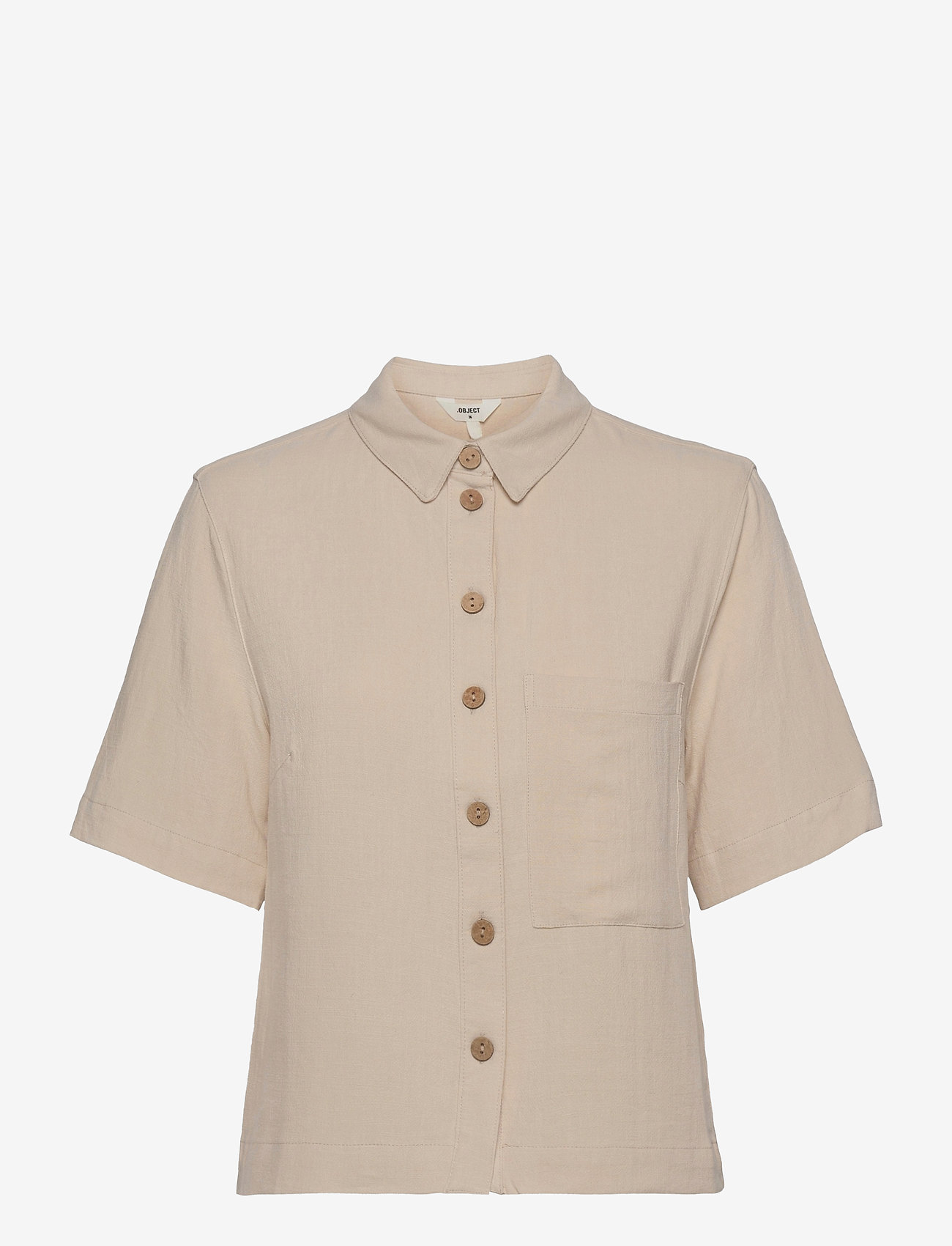 Object - OBJHADY 2/4 TOP - short-sleeved shirts - sandshell - 0