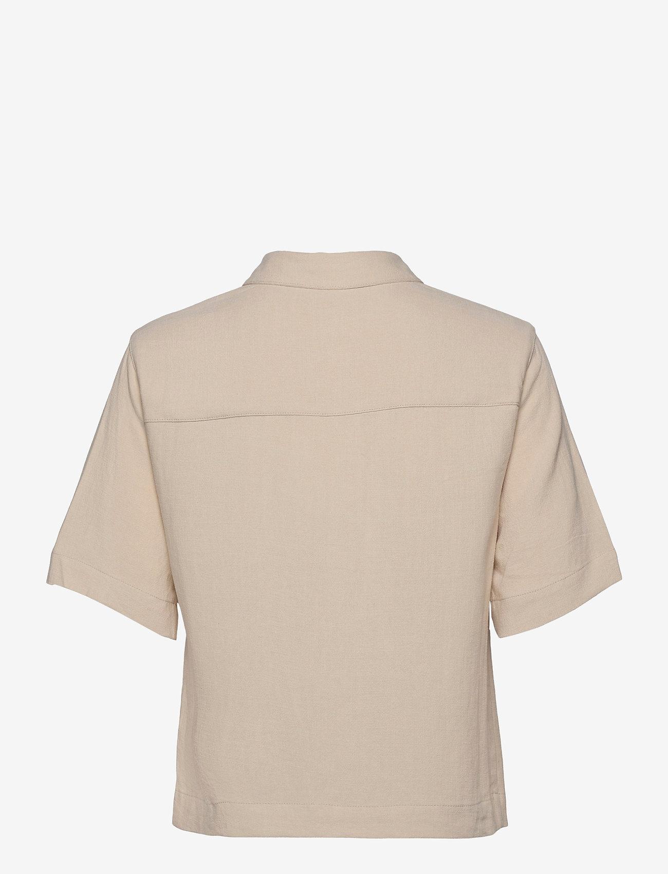 Object - OBJHADY 2/4 TOP - short-sleeved shirts - sandshell - 1