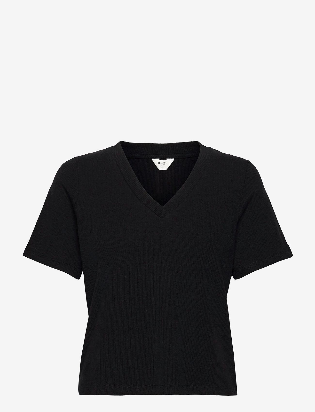 Object - OBJJADE S/S TOP 115 - t-shirt & tops - black - 0
