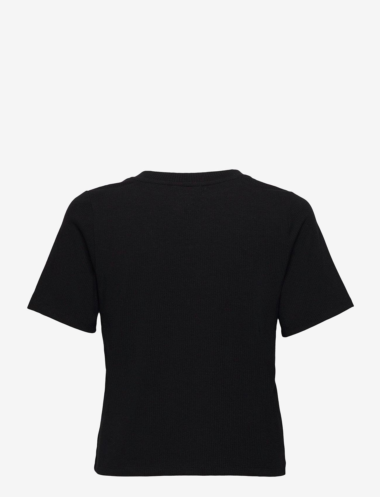 Object - OBJJADE S/S TOP 115 - t-shirt & tops - black - 1
