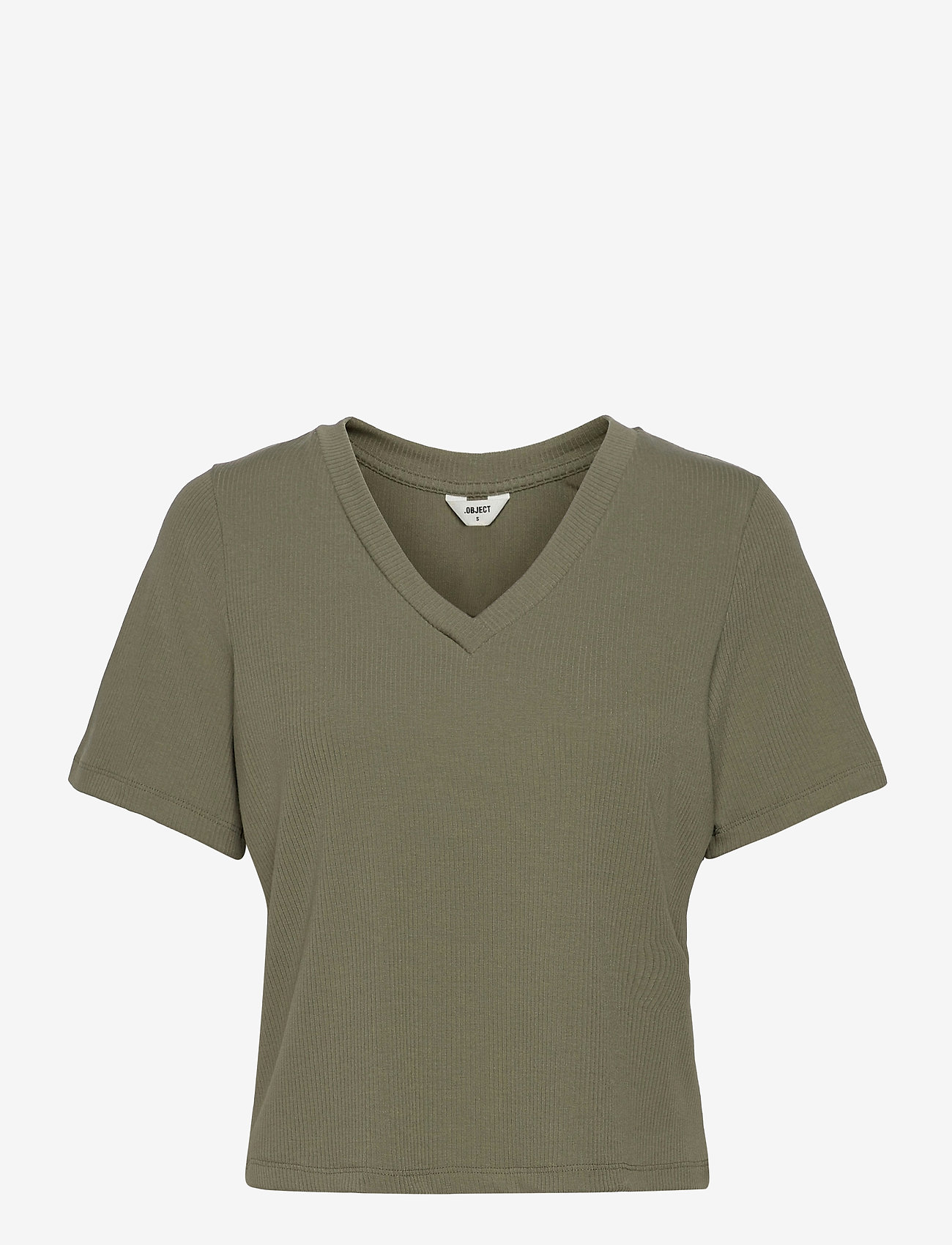 Object - OBJJADE S/S TOP 115 - t-shirt & tops - deep lichen green - 0