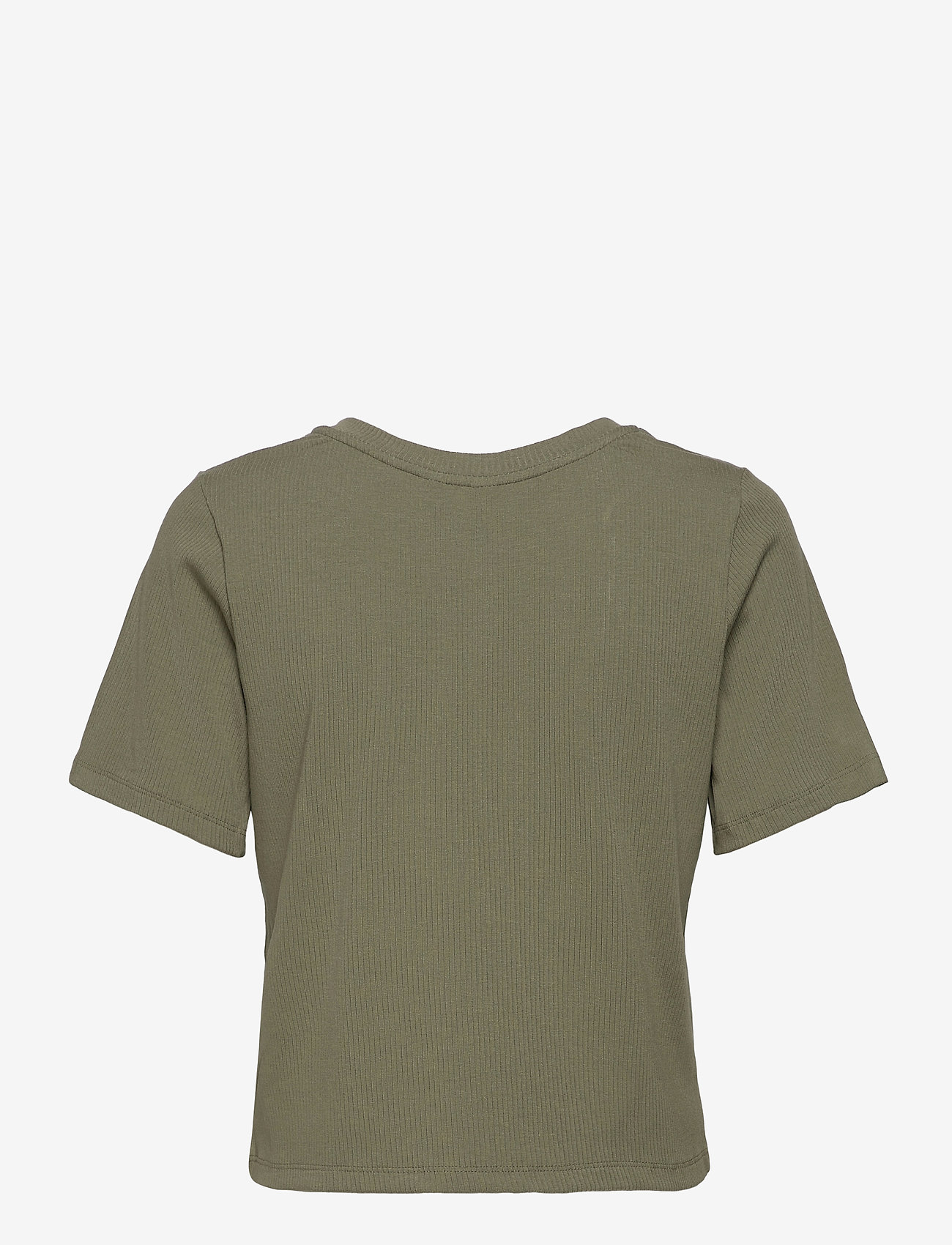 Object - OBJJADE S/S TOP 115 - t-shirt & tops - deep lichen green - 1