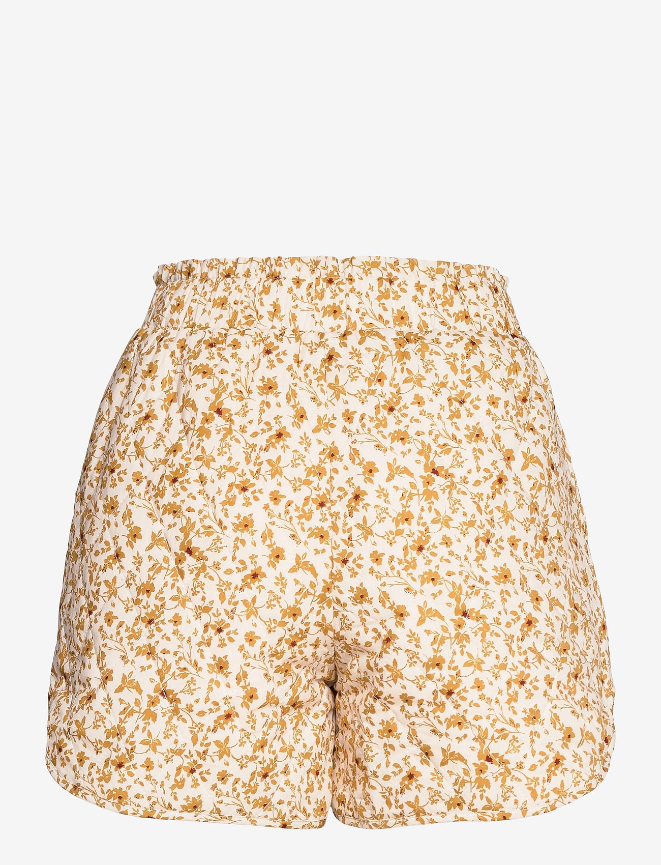 Object - OBJNELIA MW QUILTED SHORTS - shorts casual - sandshell - 1