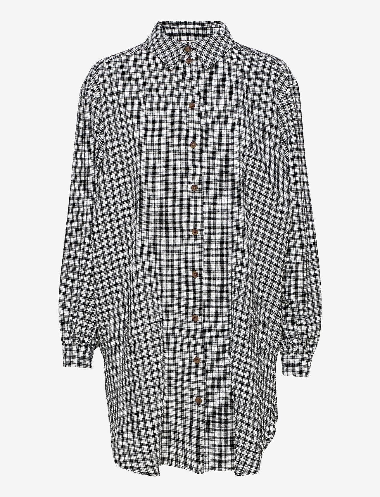 Object - OBJTAMAR L/S SHIRT 115 .C - long-sleeved shirts - black - 0