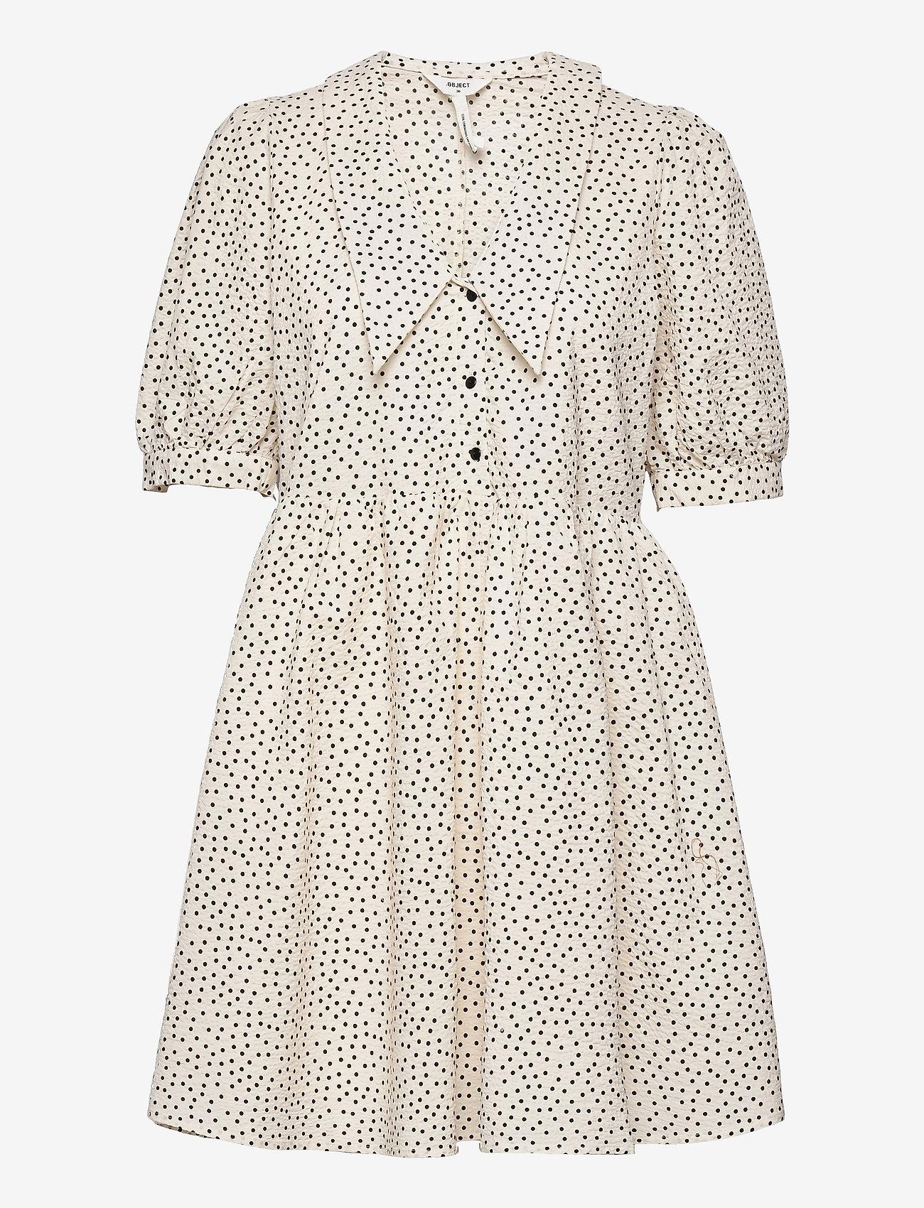 Object - OBJNOUR 2/4 DRESS 115 .C - summer dresses - sandshell - 0
