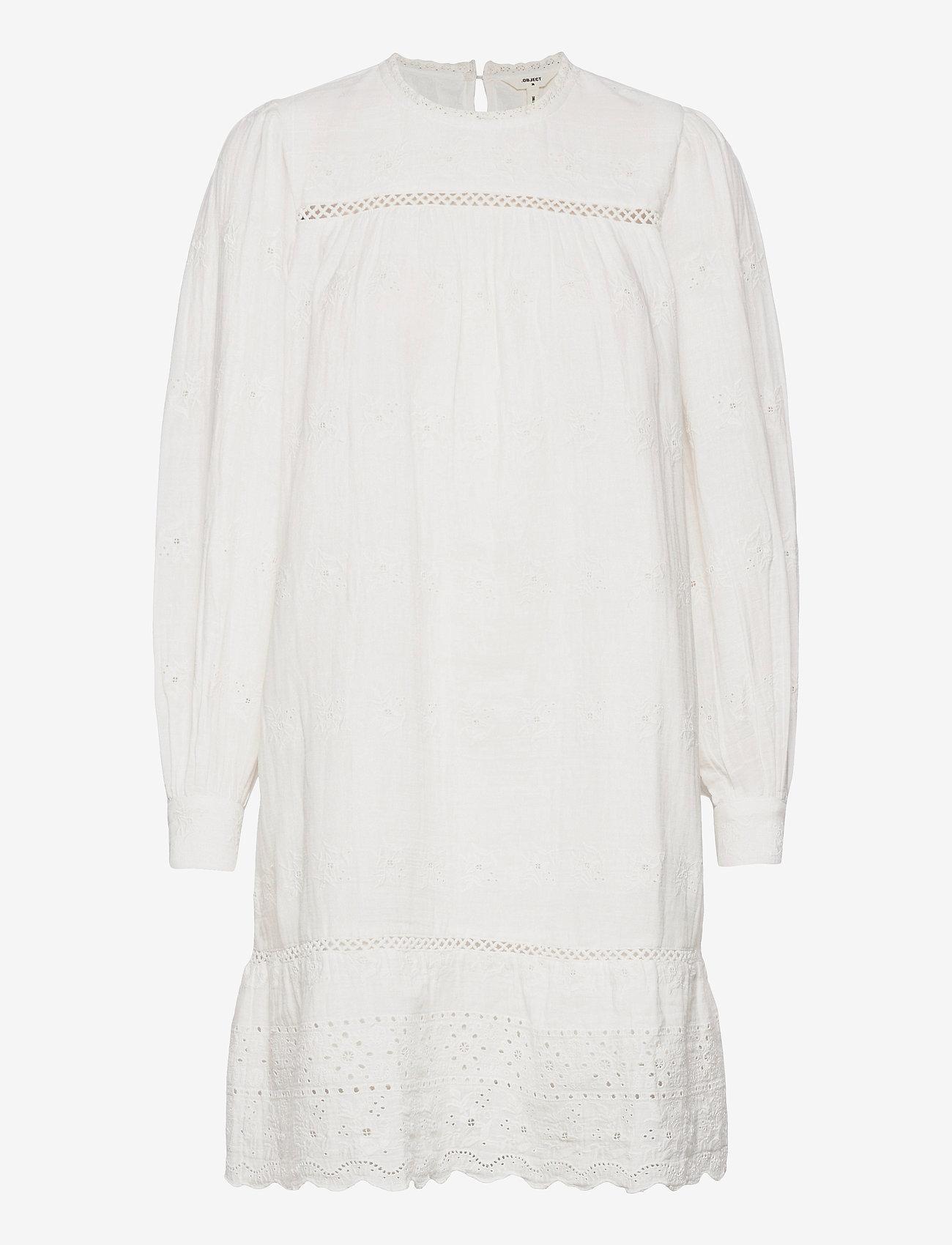 Object - OBJYASNA L/S SHORT DRESS 115 .C - kesämekot - bright white - 0