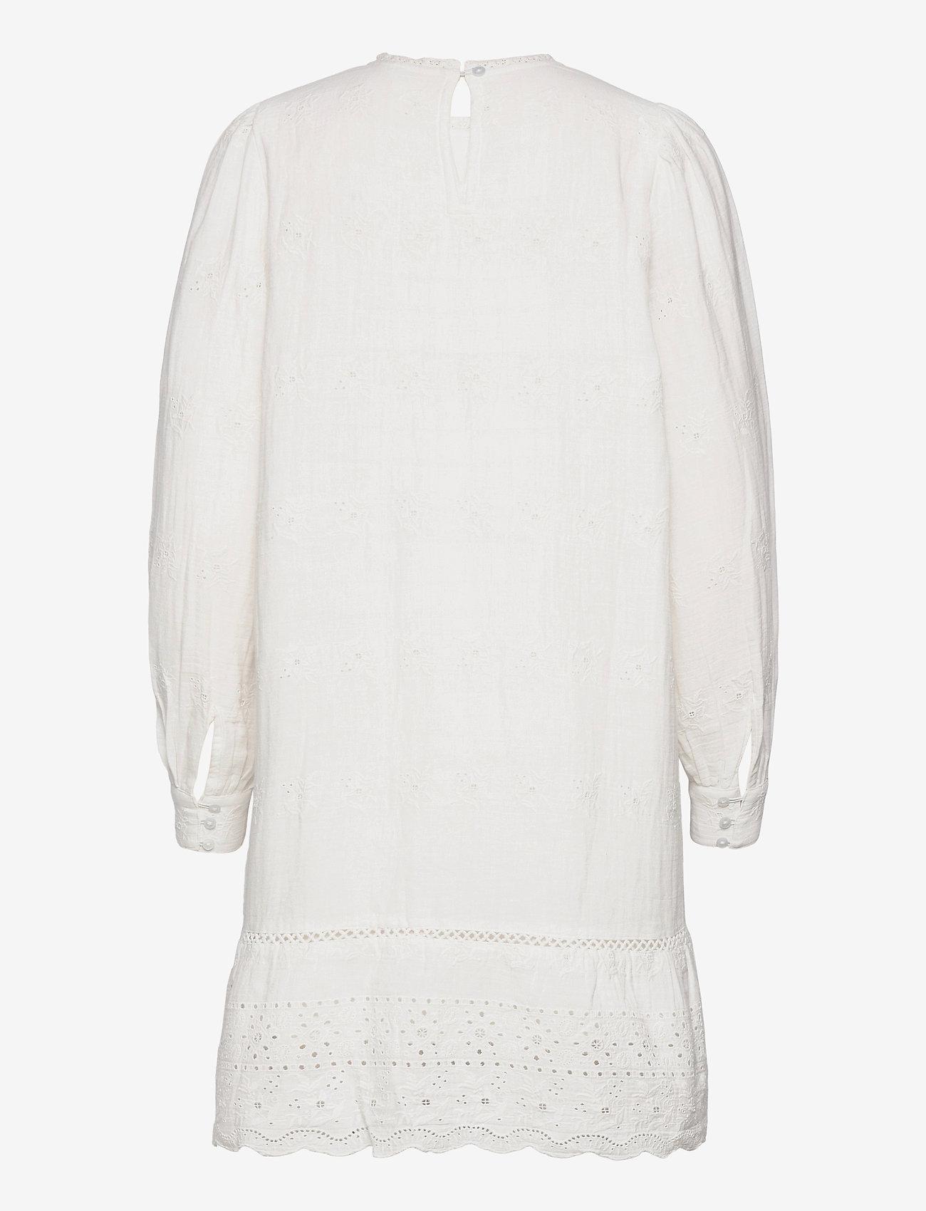 Object - OBJYASNA L/S SHORT DRESS 115 .C - kesämekot - bright white - 1