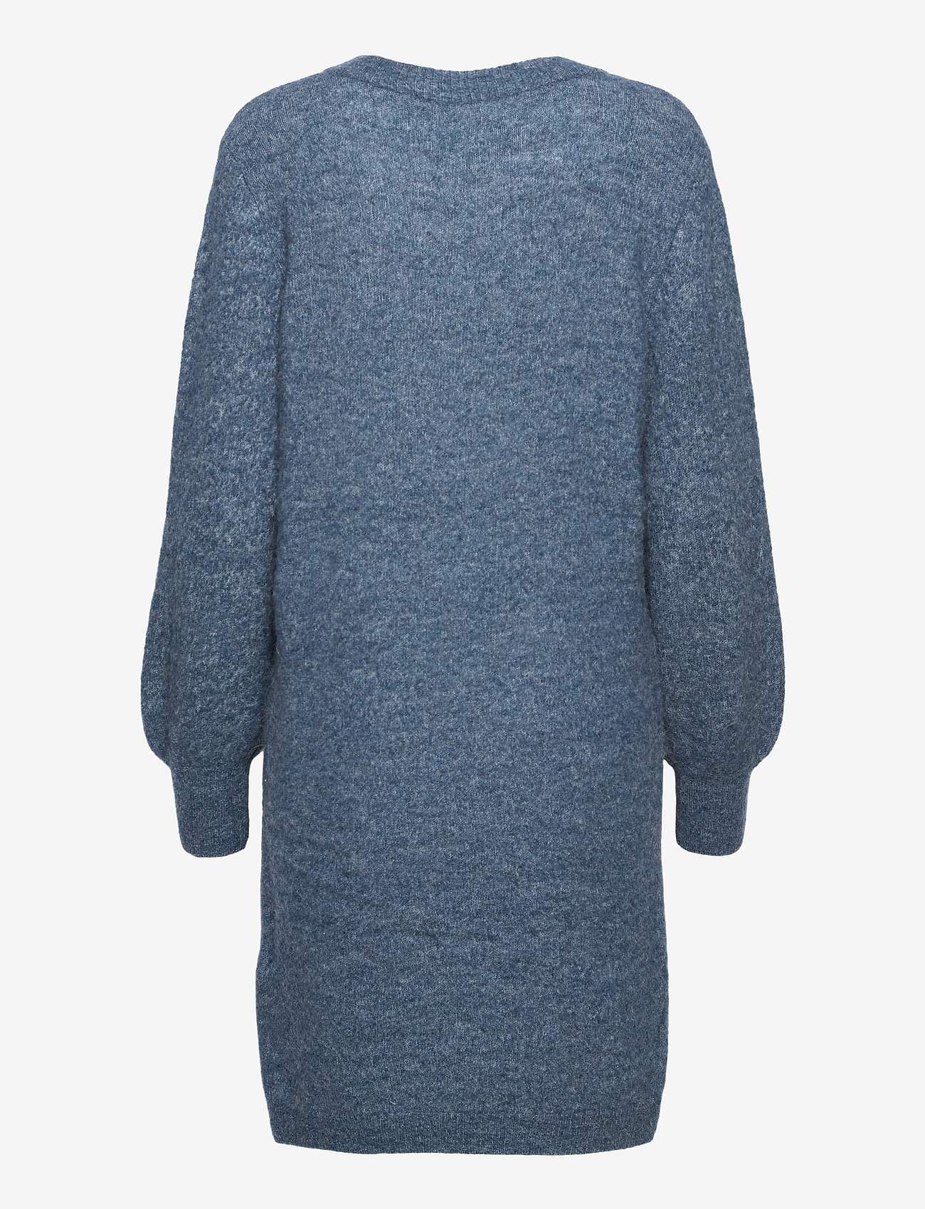 Object - OBJNETE V-NECK L/S DRESS A Q - knitted dresses - blue mirage - 1