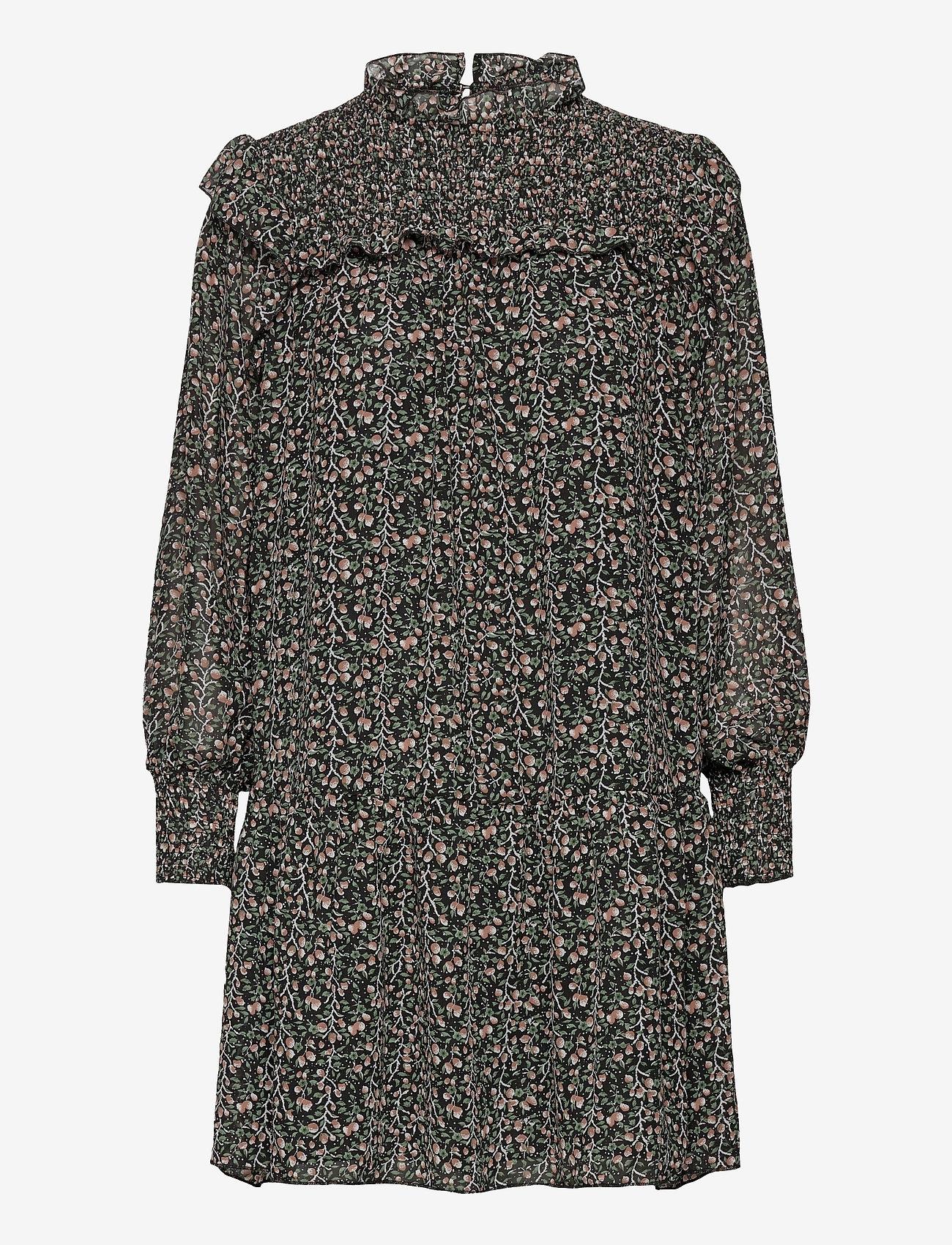 Object - OBJASTA ARYA L/S SMOCK DRESS A LMT - everyday dresses - black - 0