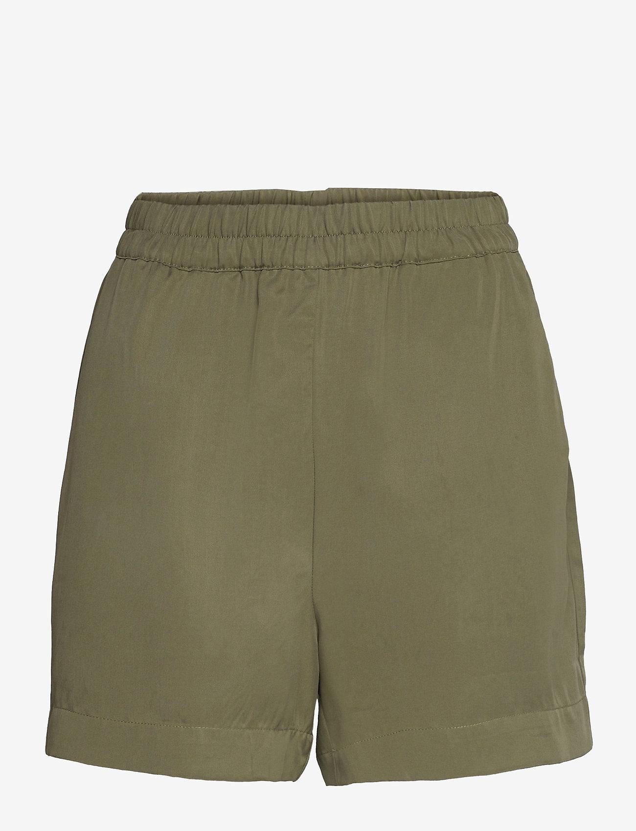 Object - OBJTILDA HW SHORTS - shorts casual - deep lichen green - 0
