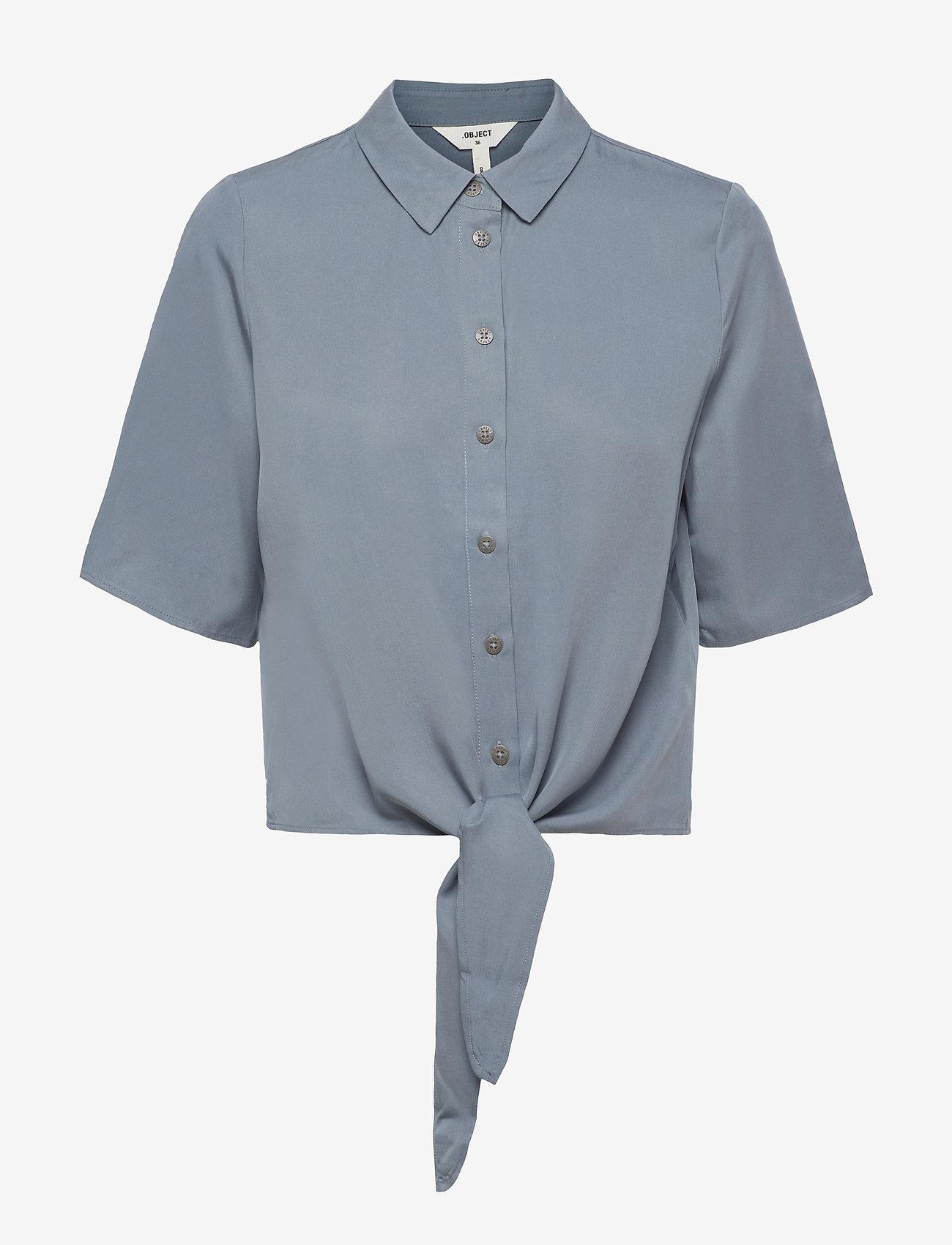 Object - OBJTILDA KARLA 2/4 SHIRT A EC SP - short-sleeved shirts - blue mirage - 0