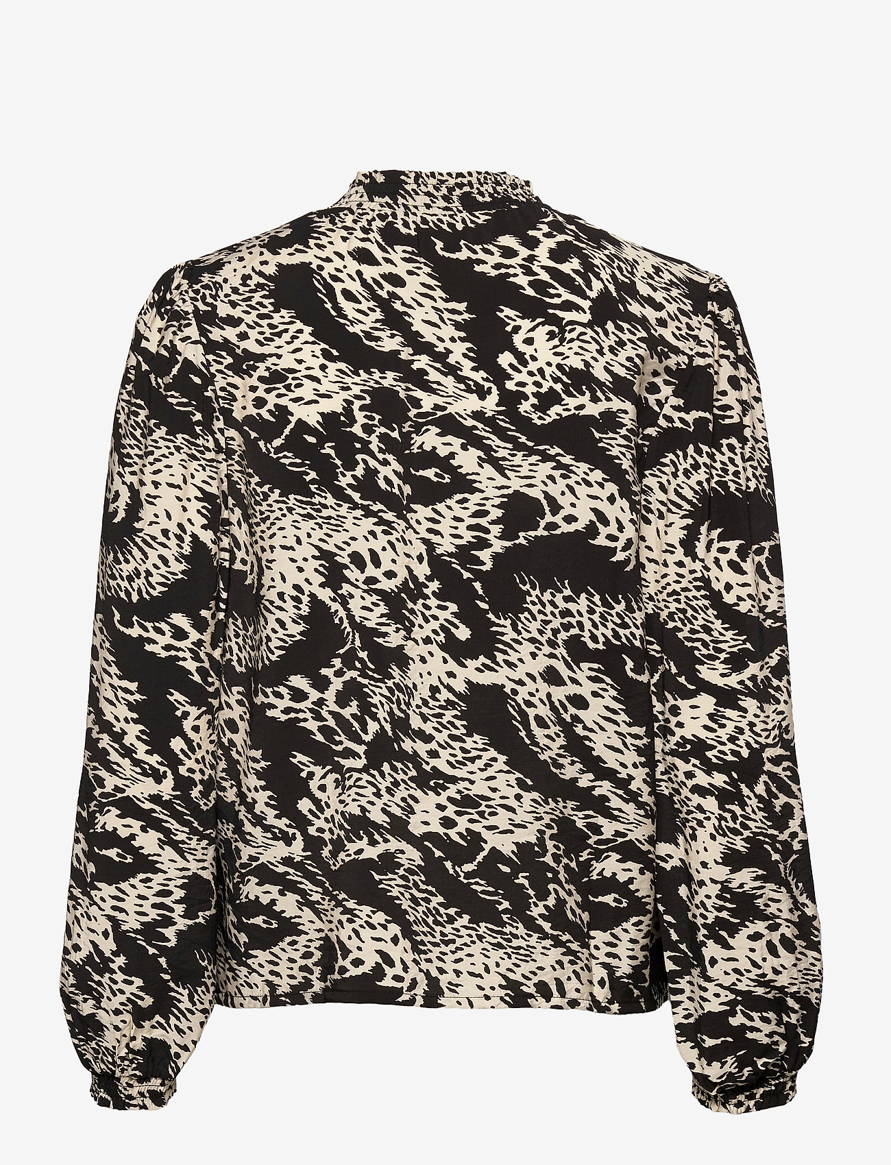 Object - OBJTALUSA L/S TOP - long sleeved blouses - black - 1