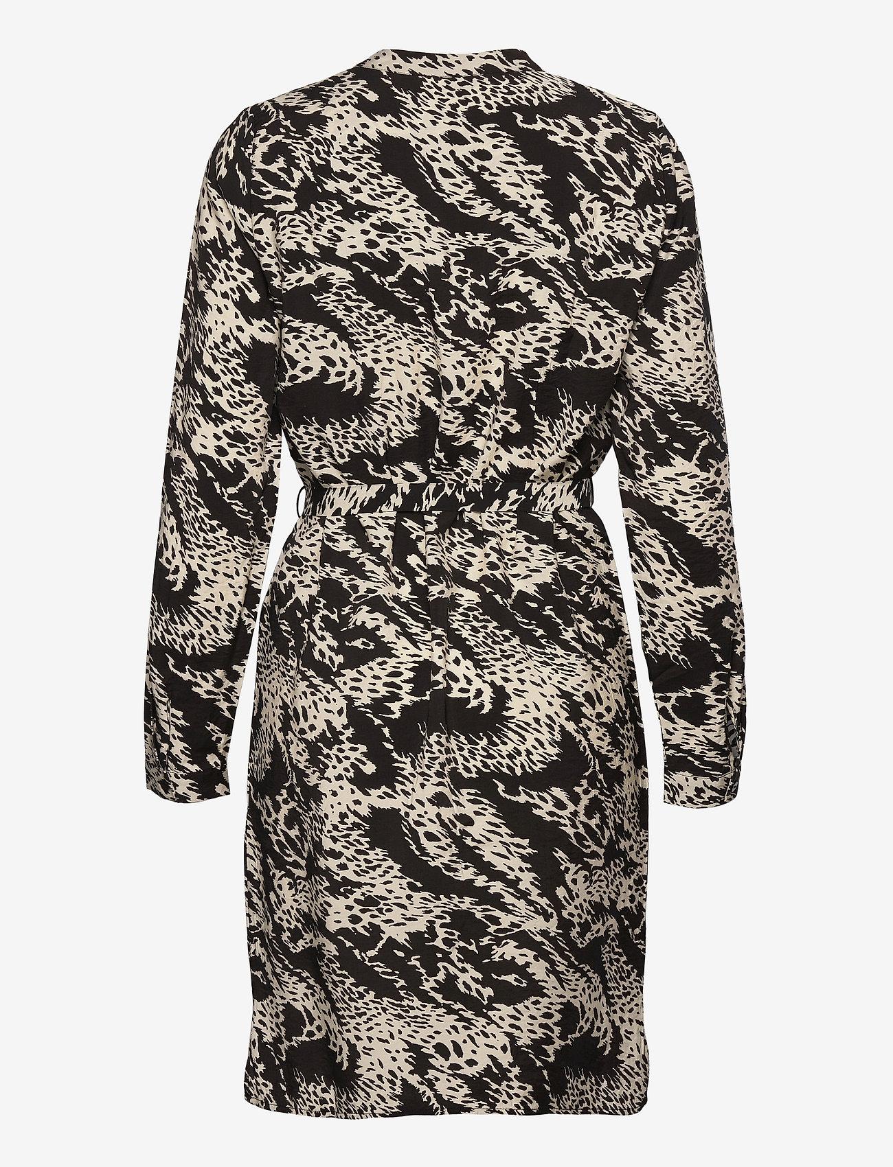 Object - OBJTALUSA L/S BIRDY DRESS - summer dresses - black - 1