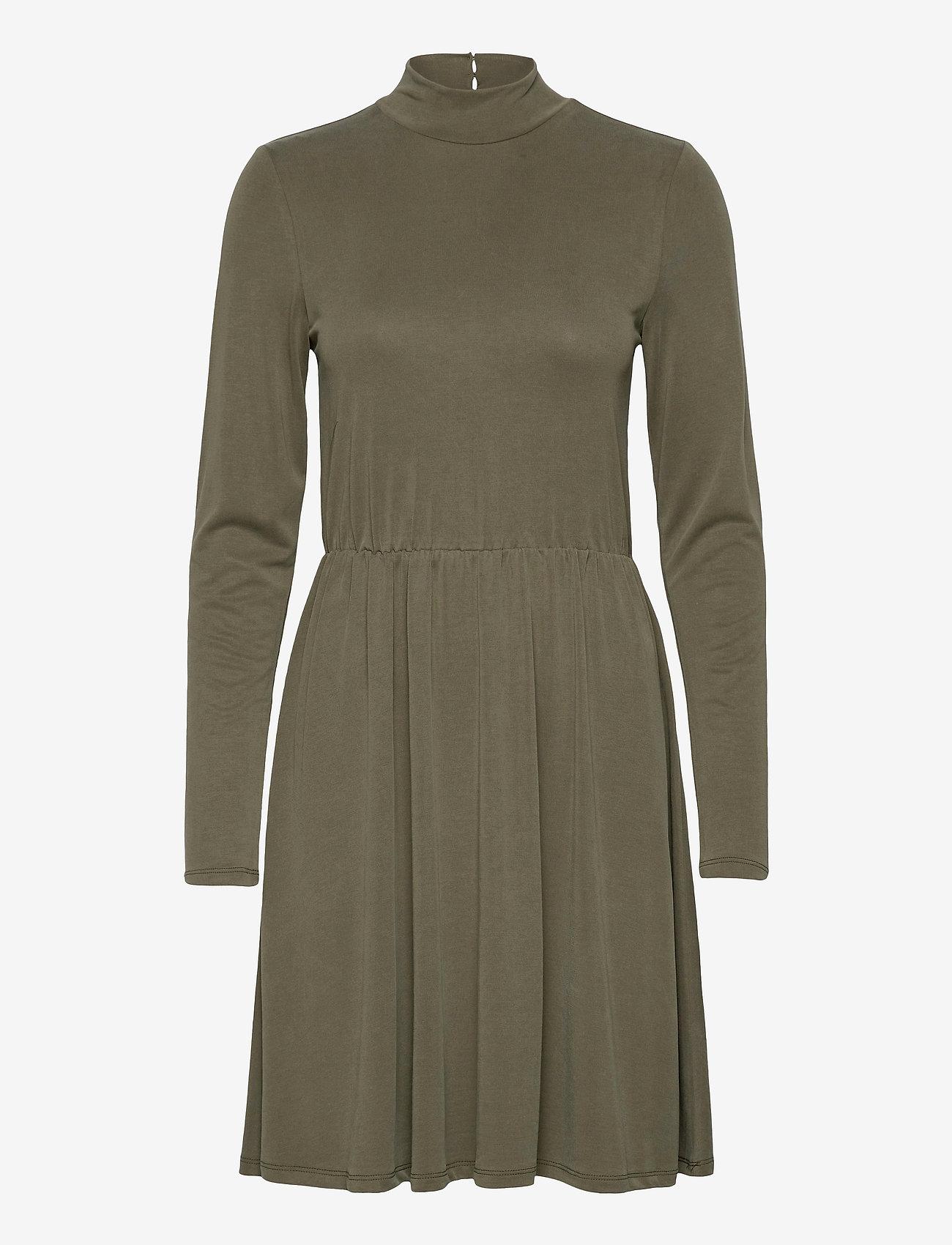 Object - OBJNADIA ROSE L/S SHORT DRESS A Q - everyday dresses - forest night - 0