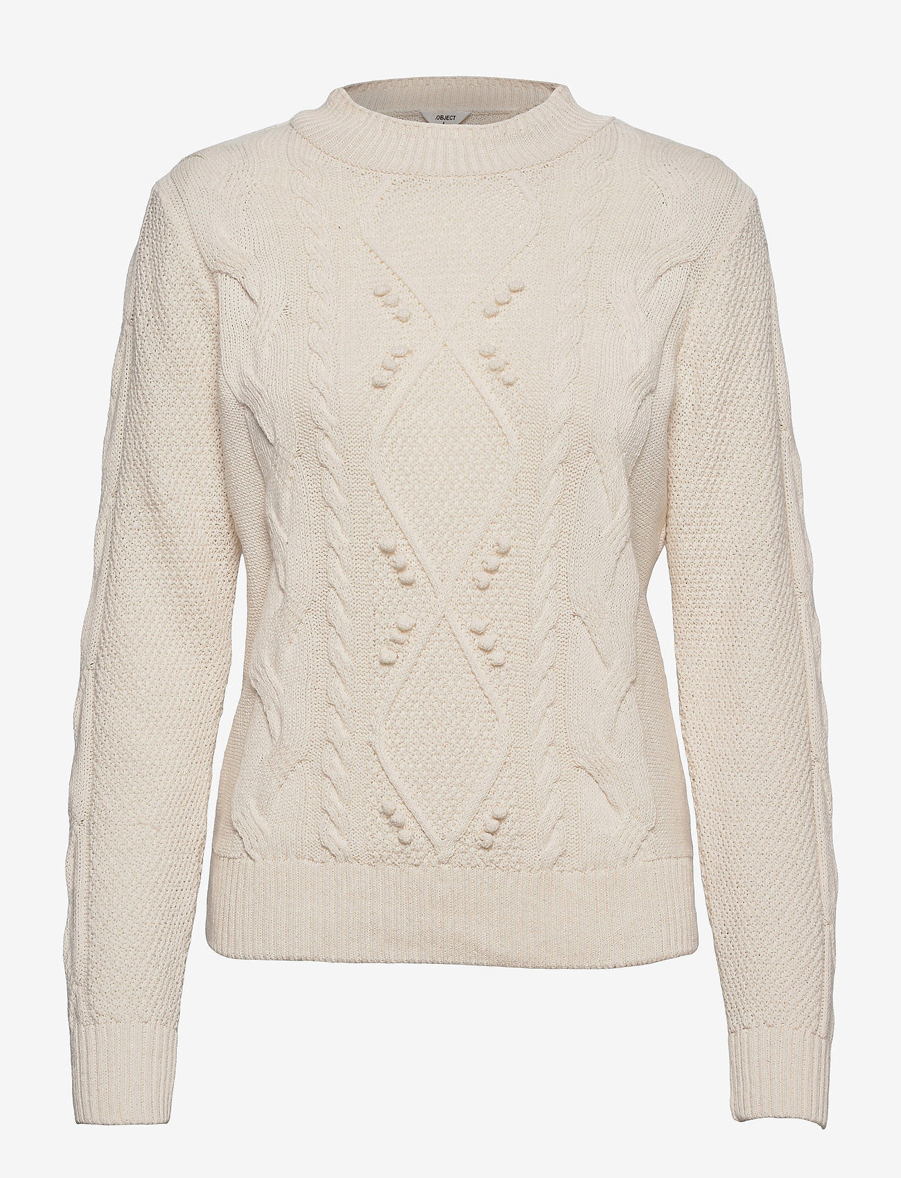 Object - OBJRIA L/S KNIT PULLOVER A OFW - jumpers - gardenia - 0