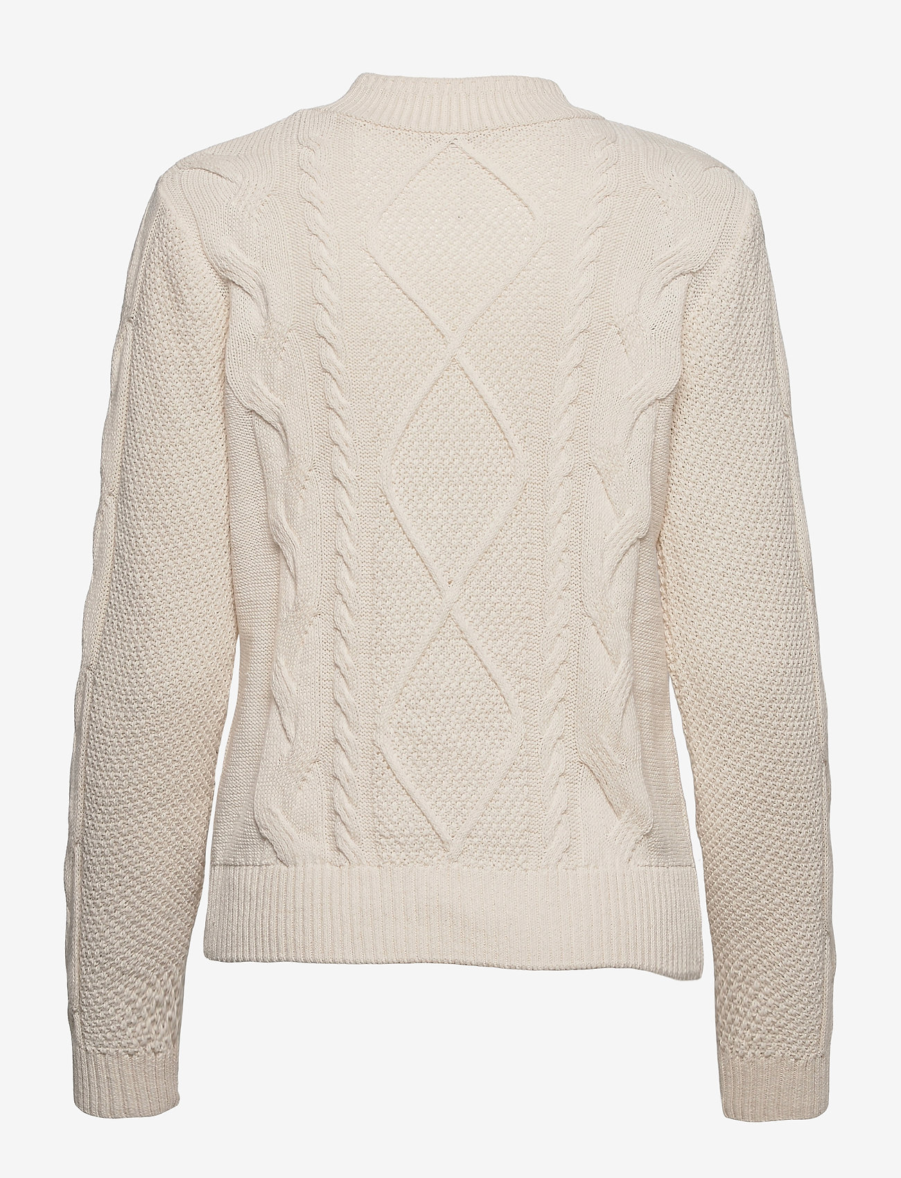 Object - OBJRIA L/S KNIT PULLOVER A OFW - jumpers - gardenia - 1