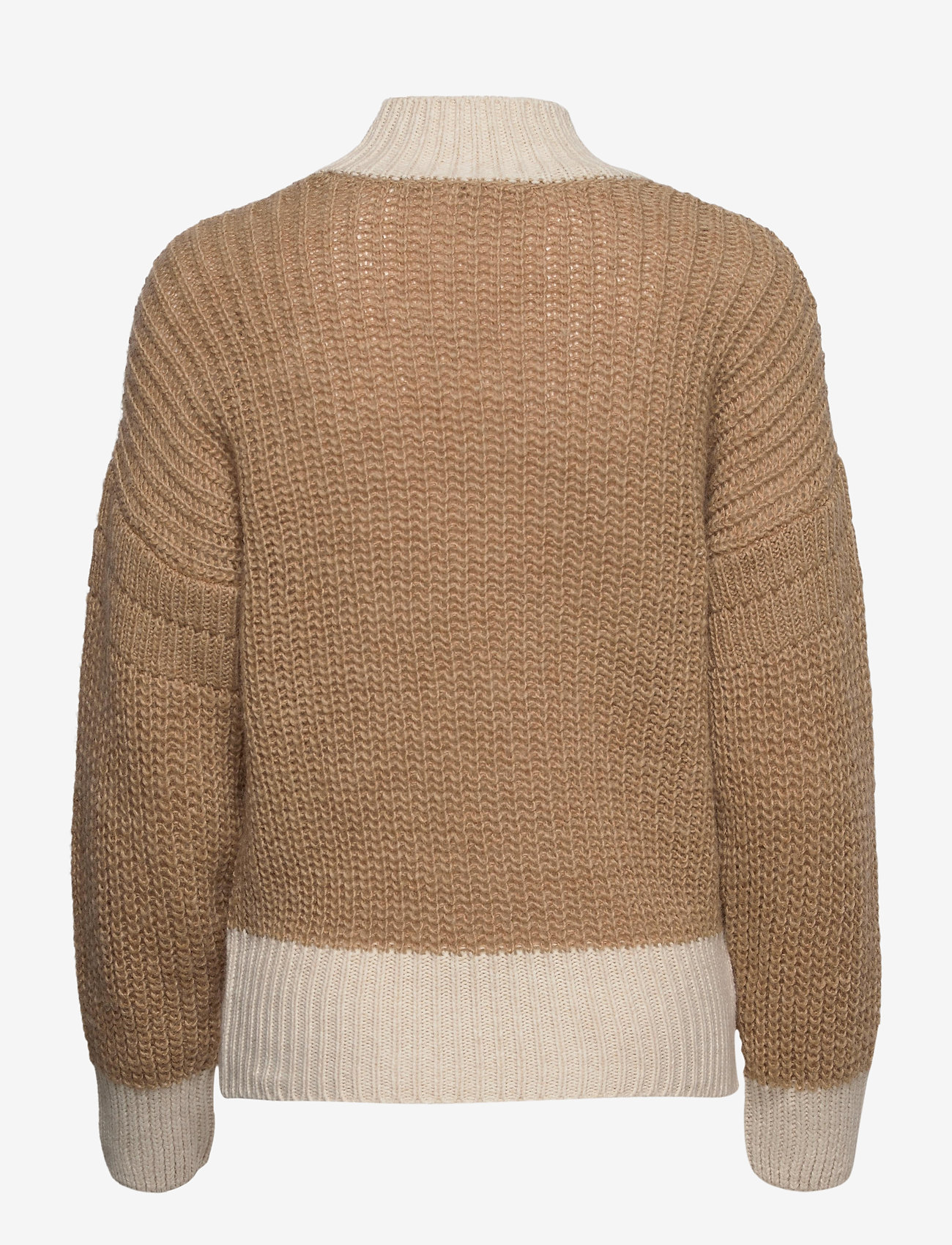 Object - OBJSANA L/S KNIT PULLOVER A OFW - neulepuserot - fossil - 1