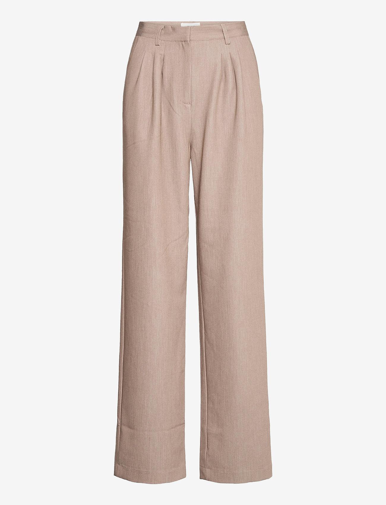 Object - OBJRITA MW TROUSERS A TC2 - straight leg trousers - humus - 0