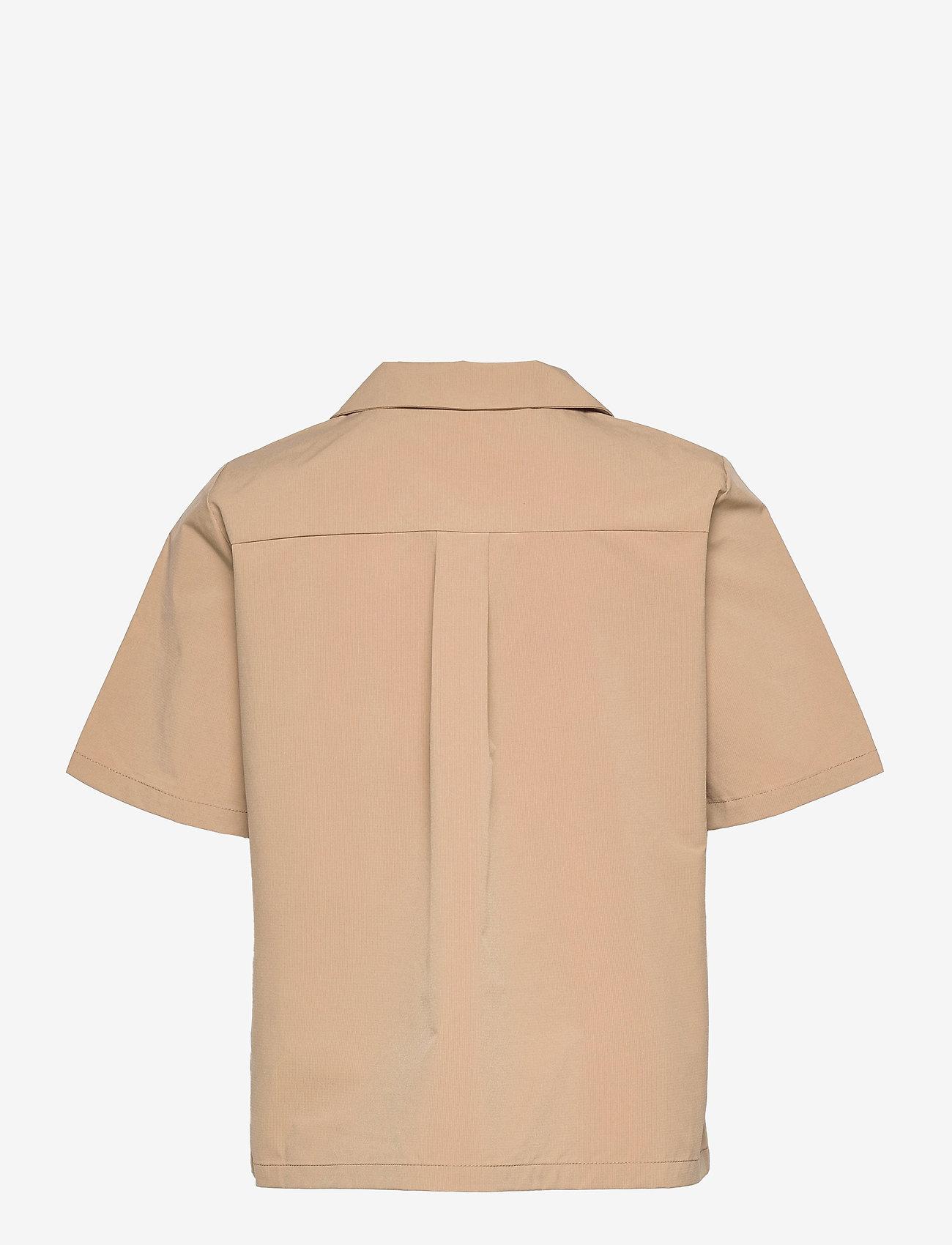 Object - OBJFRIGG S/S RESORT SHIRT A FAIR - short-sleeved shirts - sandshell - 1