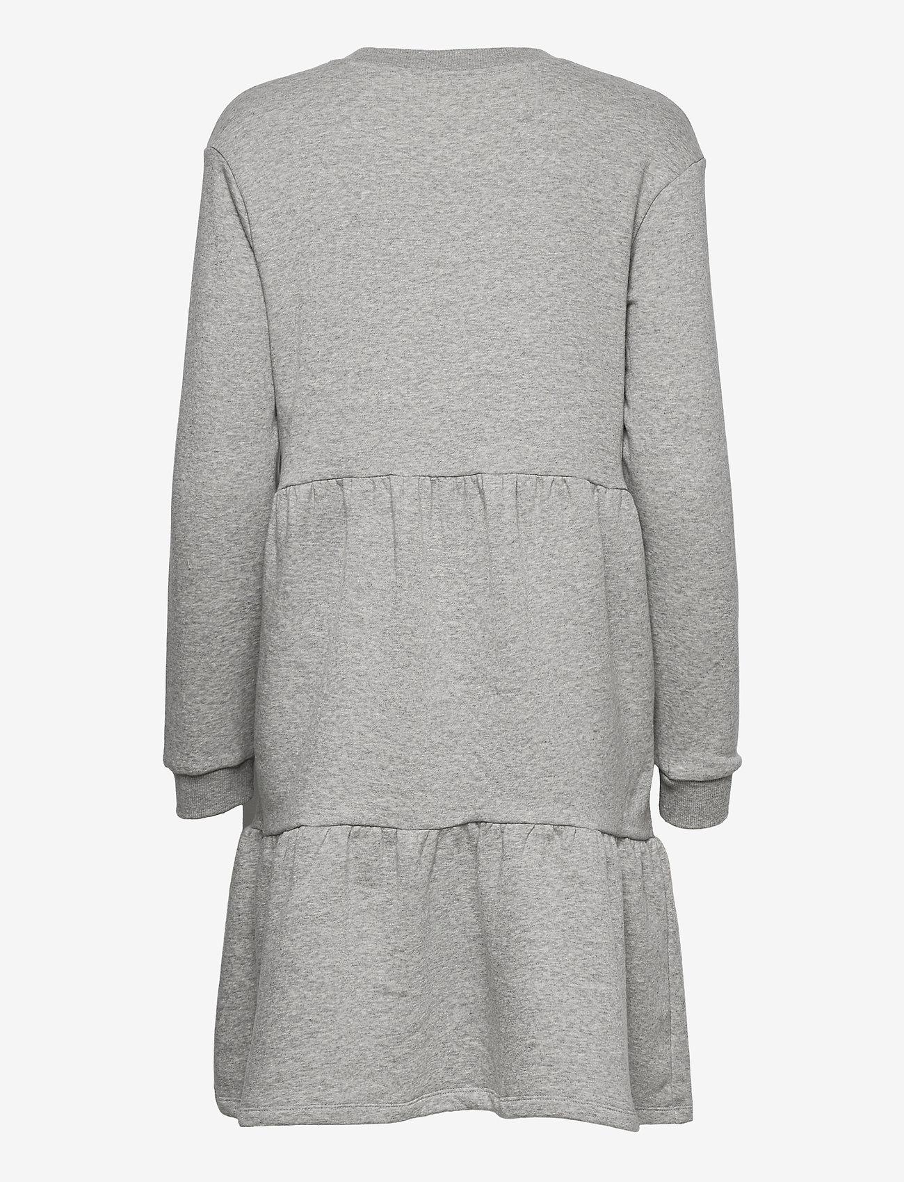 Object - OBJNINY L/S SWEAT DRESS A FAIR - kesämekot - light grey melange - 1