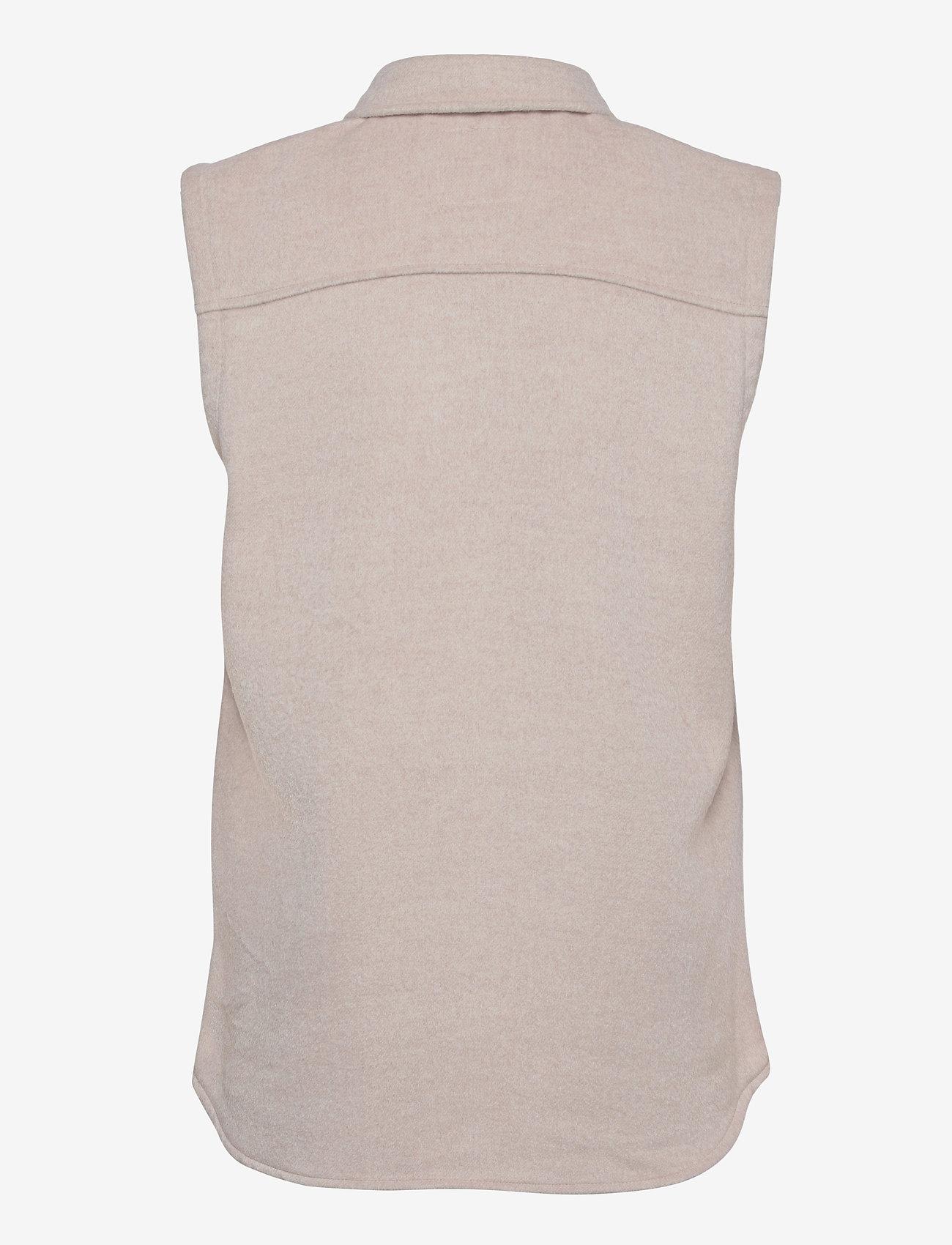 Object - OBJVERA OWEN S/L VEST A DIV - knitted vests - incense - 1