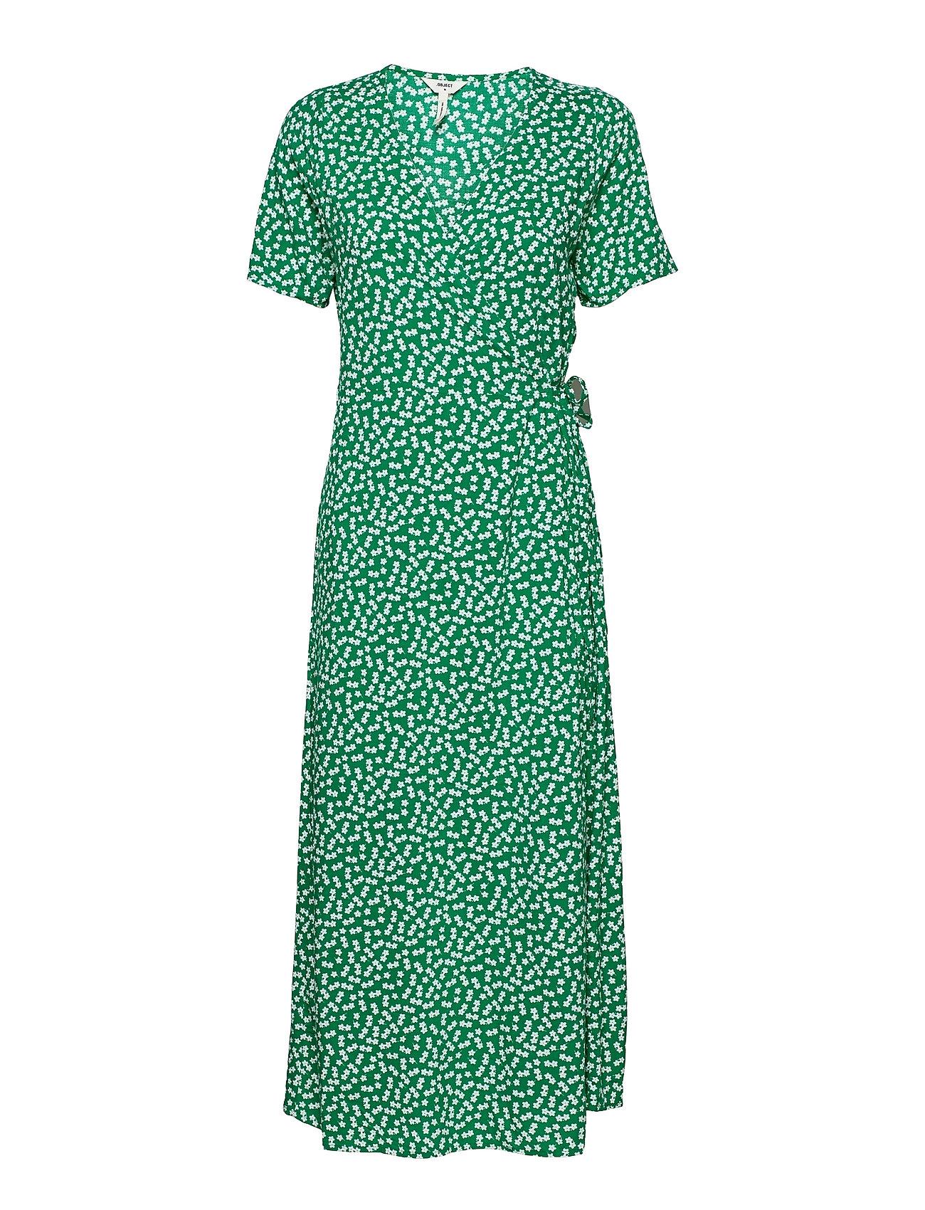 Objelise S/S Long Wrap Dress A Div Dresses Wrap Dresses Grøn Object