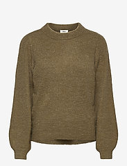 Object - OBJEVE NONSIA L/S KNIT PULLOVER - jumpers - burnt olive - 0