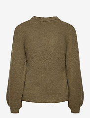 Object - OBJEVE NONSIA L/S KNIT PULLOVER - jumpers - burnt olive - 1