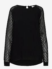Object - OBJZOE L/S TOP - t-shirt & tops - black - 0