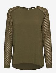 Object - OBJZOE L/S TOP - t-shirt & tops - burnt olive - 0