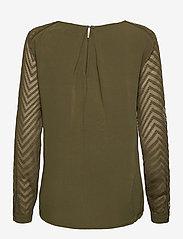 Object - OBJZOE L/S TOP - t-shirt & tops - burnt olive - 1