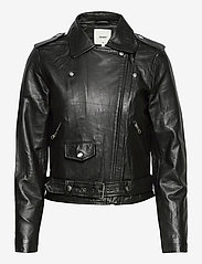 Object - OBJNANDITA LEATHER JACKET - skinnjackor - black - 1