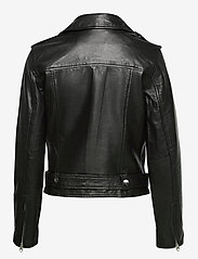 Object - OBJNANDITA LEATHER JACKET - skinnjackor - black - 2