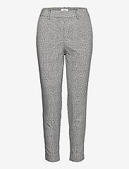 Object - OBJLISA SLIM PANT - slim fit trousers - gardenia - 0