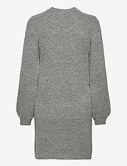 Object - OBJEVE NONSIA L/S KNIT DRESS - knitted dresses - light grey melange - 1