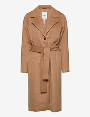 Object - OBJLENA COAT - wool coats - camel - 0